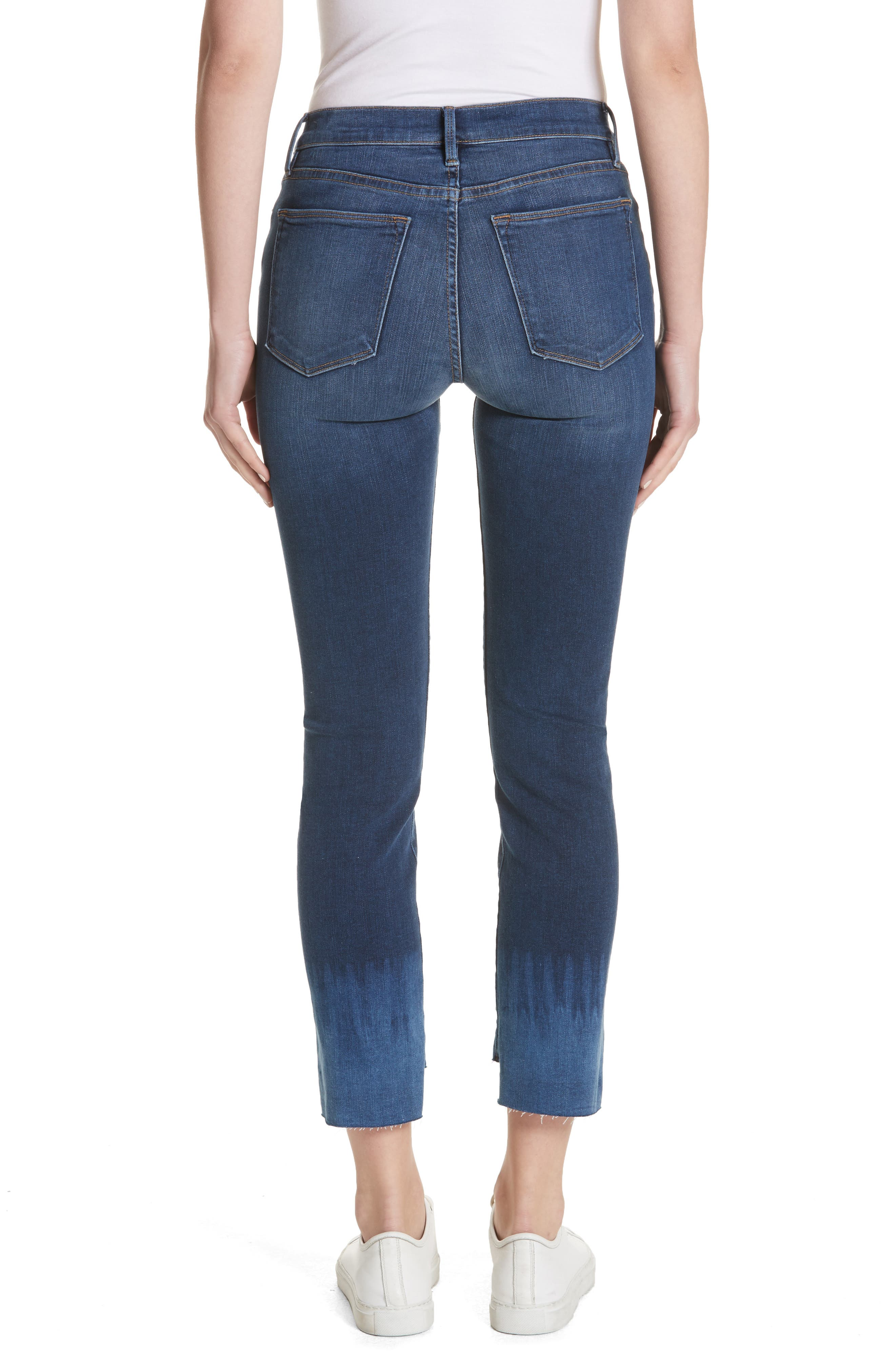 Le High Crop Straight Leg Jeans,                             Alternate thumbnail 2, color,                             Baynes Court