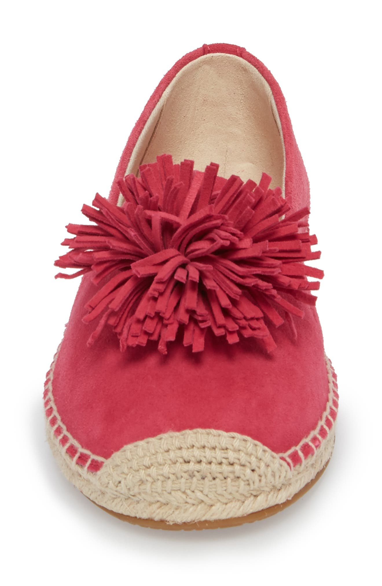 Lolita Slip-On,                             Alternate thumbnail 4, color,                             Ultra Pink Suede