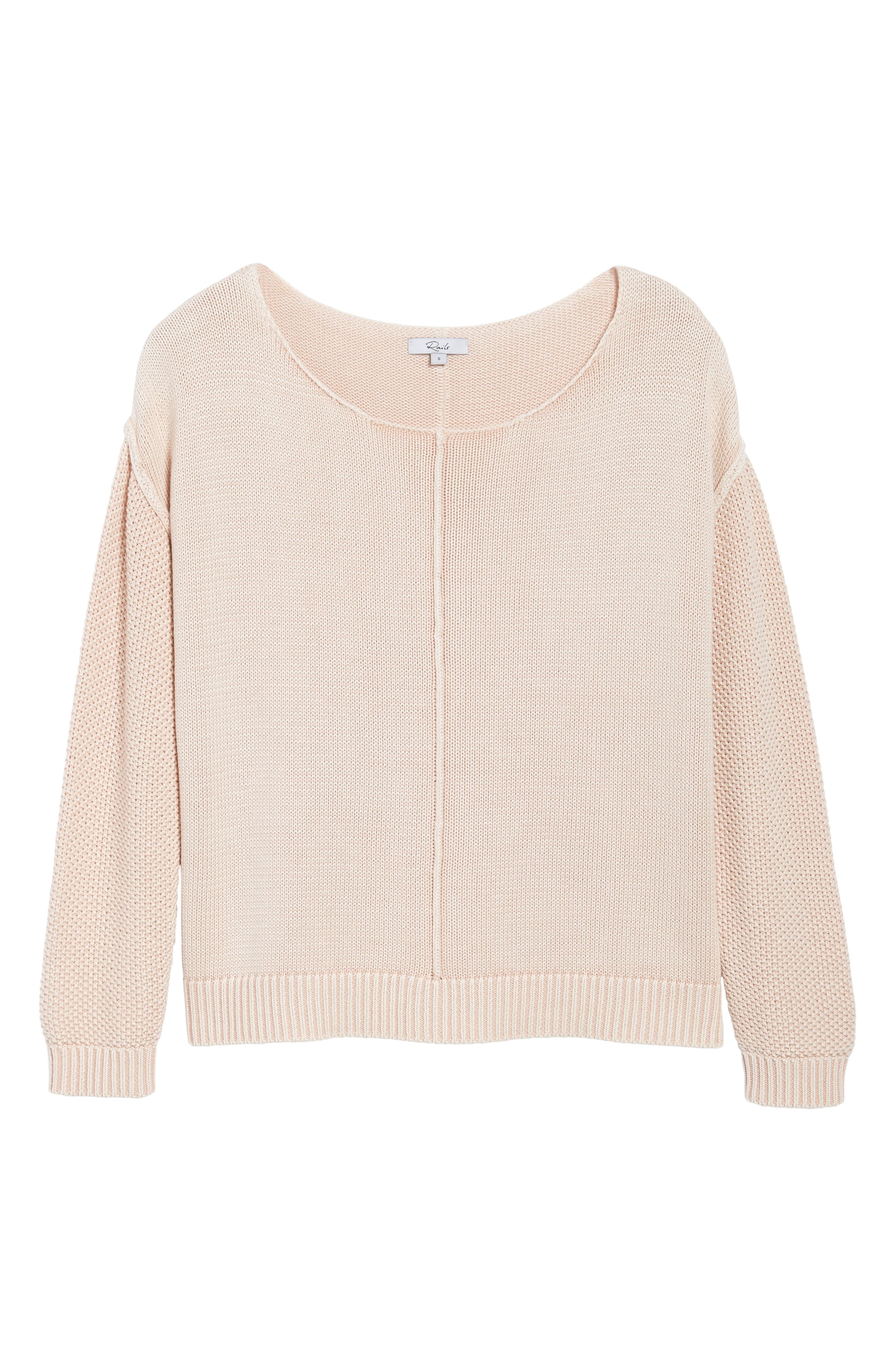 Erin Knit Sweater,                             Alternate thumbnail 6, color,                             Sand Washed Blush