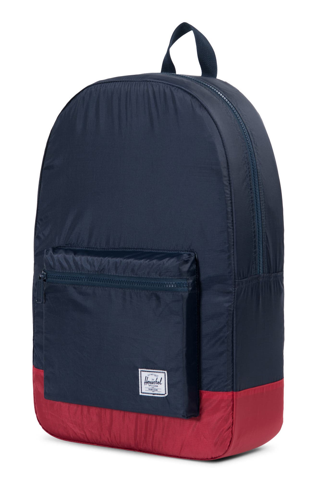 Packable Daypack,                             Alternate thumbnail 3, color,                             Navy/ Red