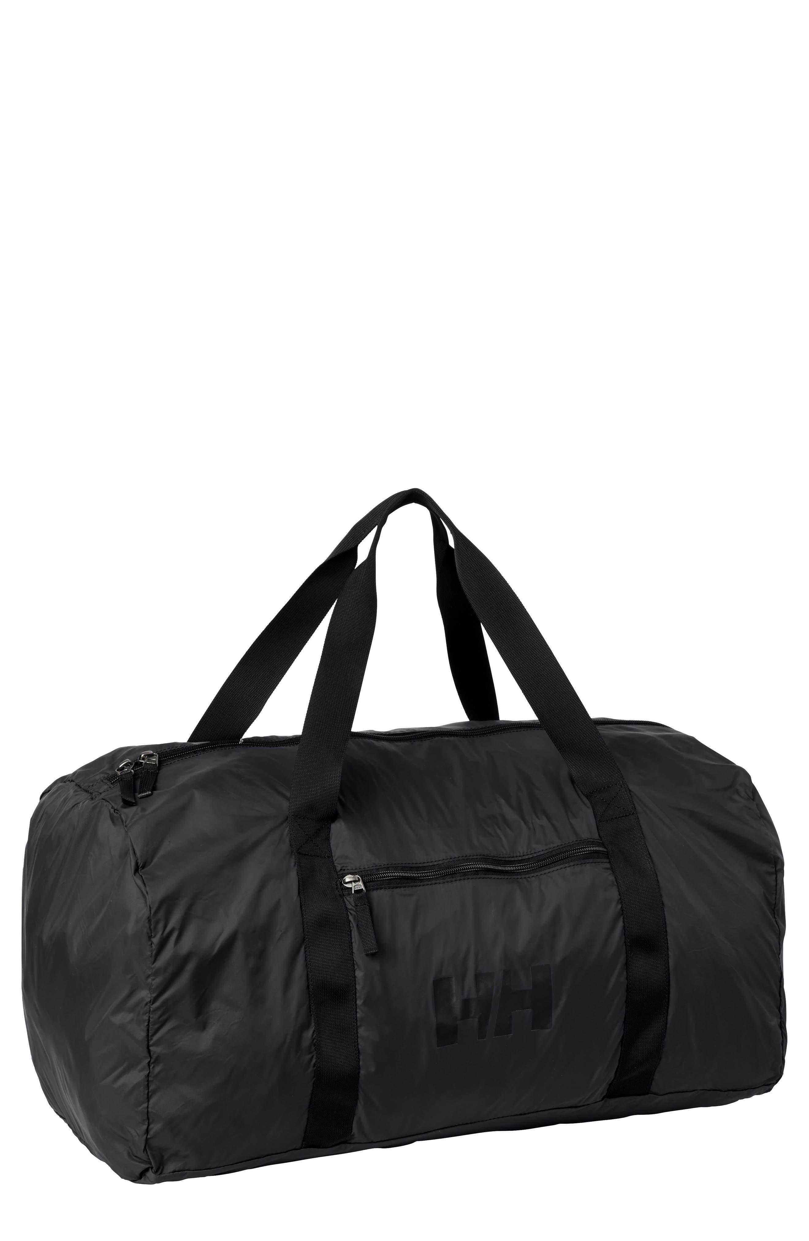 Small Packable Duffel Bag,                             Main thumbnail 1, color,                             Black
