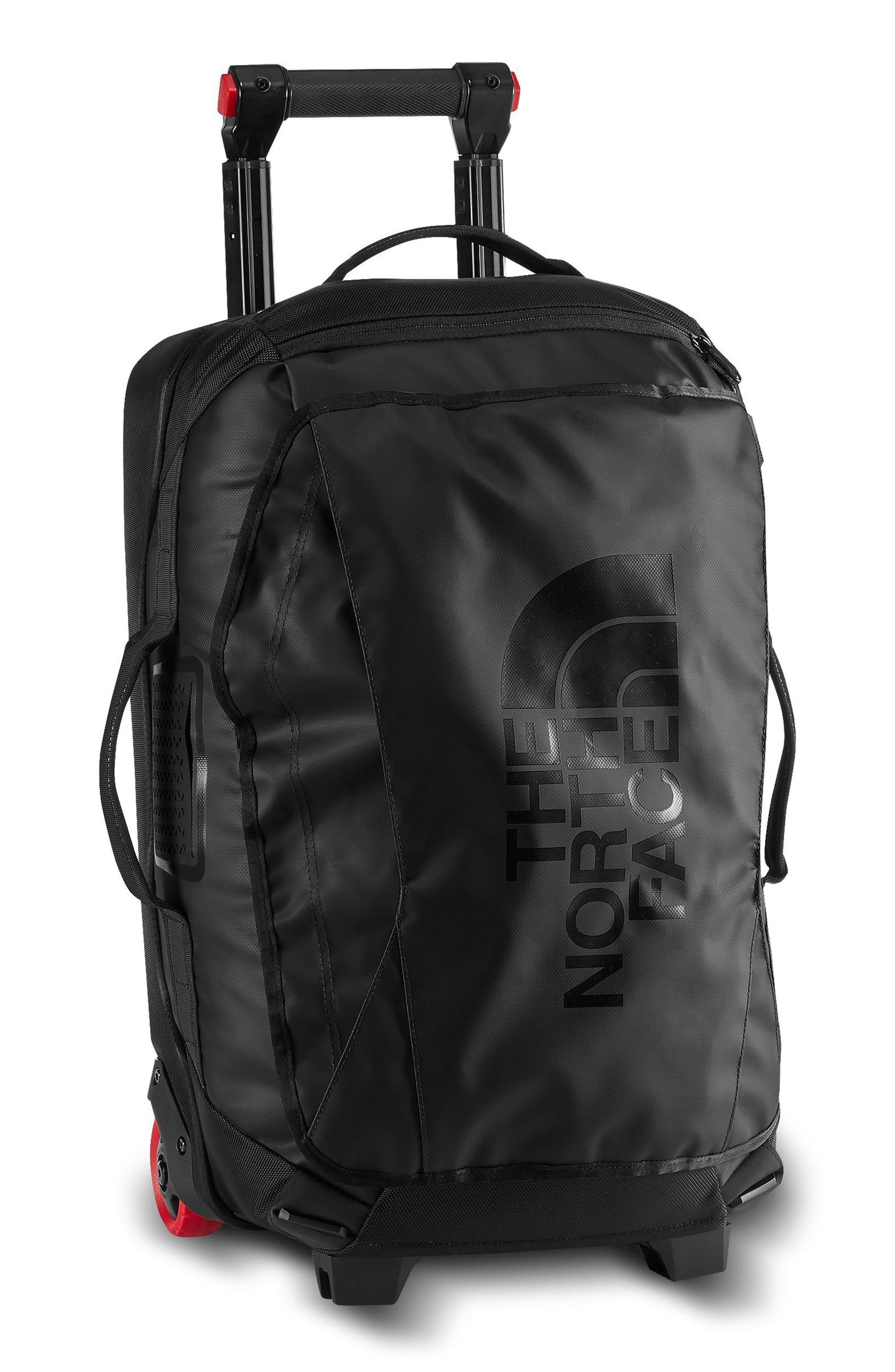 Rolling Thunder Wheeled Duffel Bag,                         Main,                         color, Tnf Black