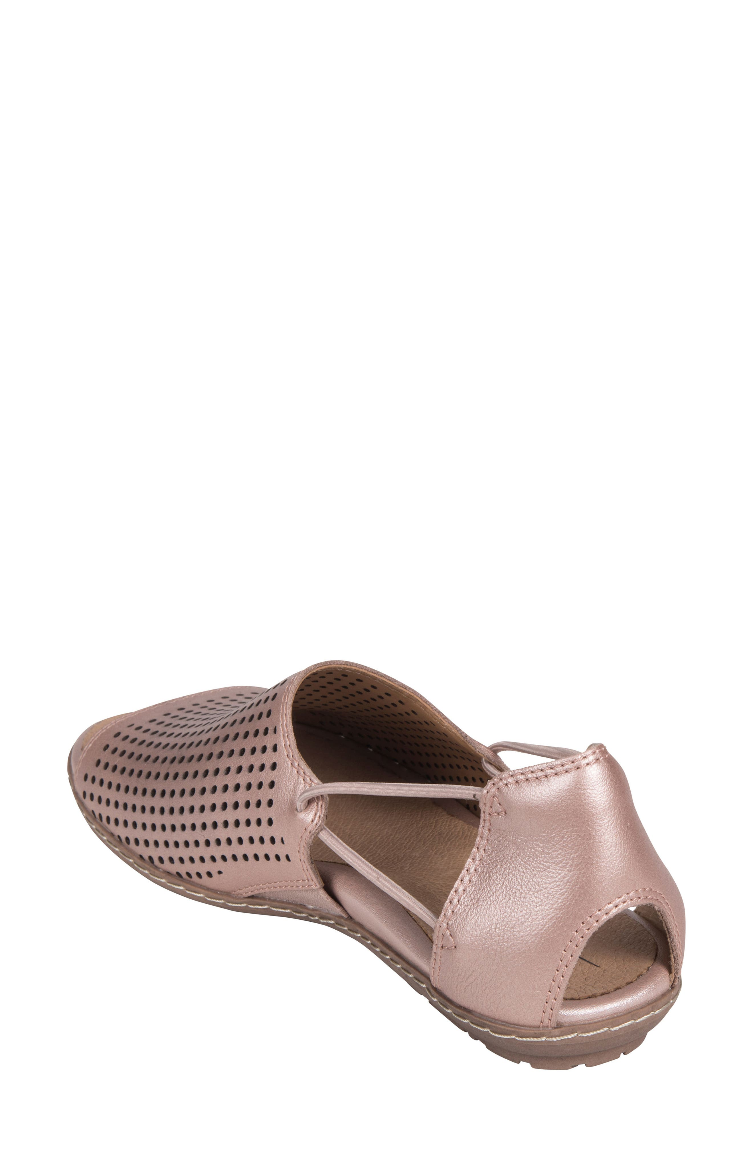 Shelly Sandal,                             Alternate thumbnail 2, color,                             Blush Metallic Leather