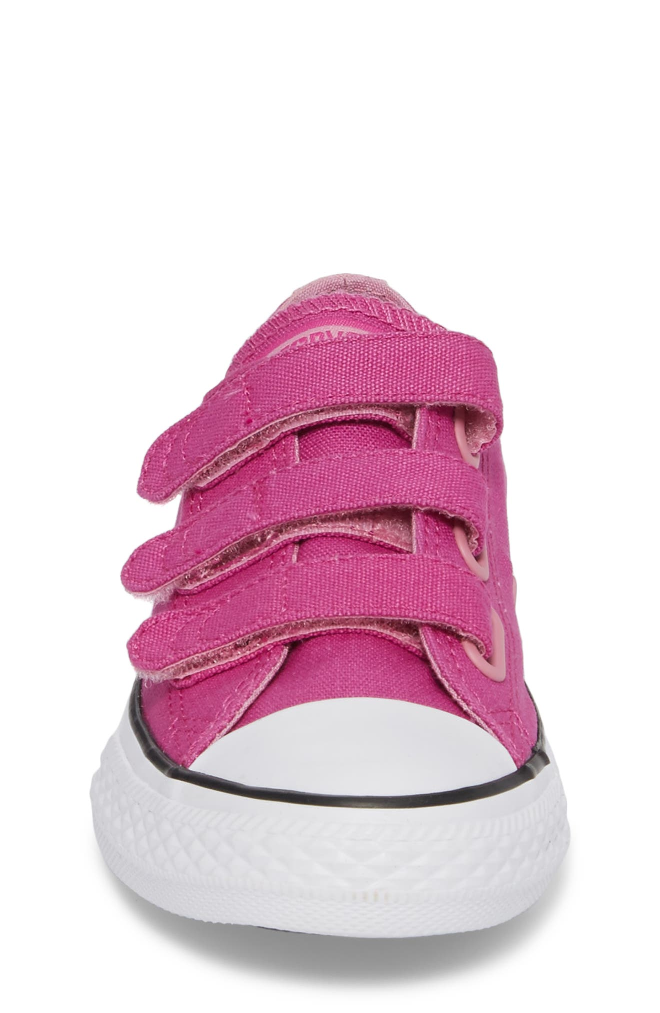 Chuck Taylor<sup>®</sup> All Star<sup>®</sup> 3V Low Top Sneaker,                             Alternate thumbnail 4, color,                             Hyper Magenta