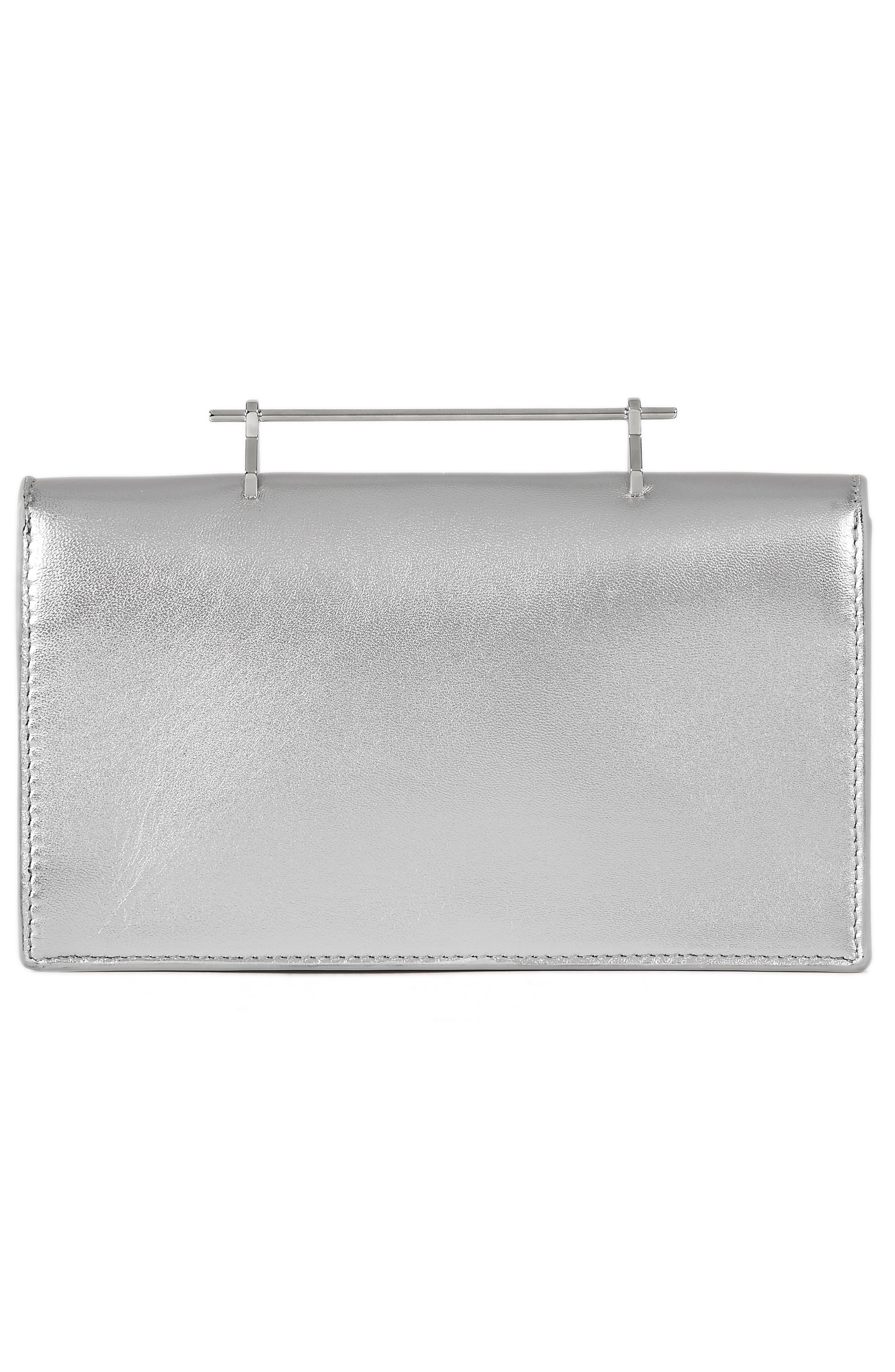 Alexia Metallic Leather Shoulder Bag,                             Alternate thumbnail 2, color,                             Metallic Silver/ Silver