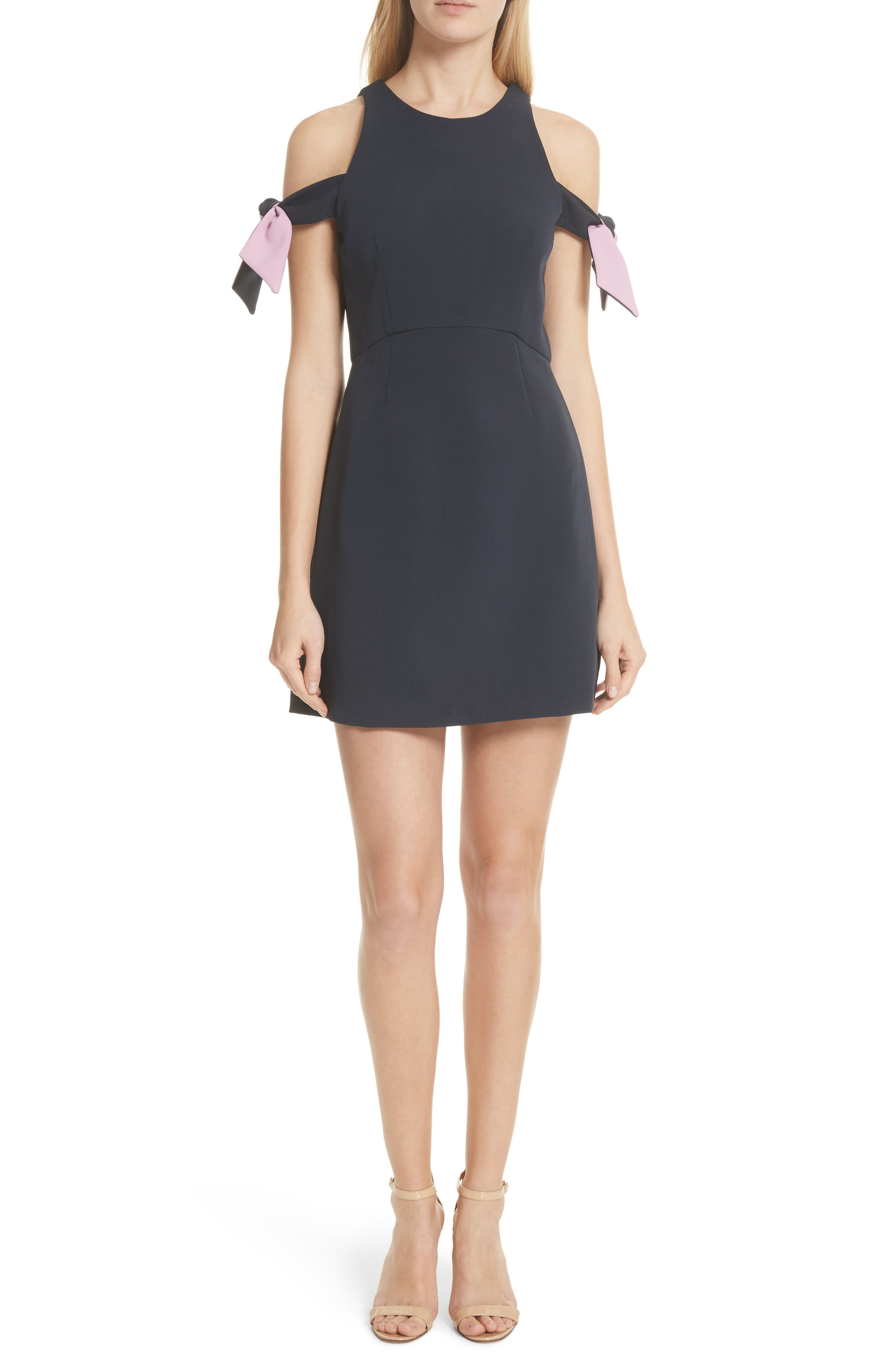 Madison Cold Shoulder Minidress,                         Main,                         color, Navy/ Petal