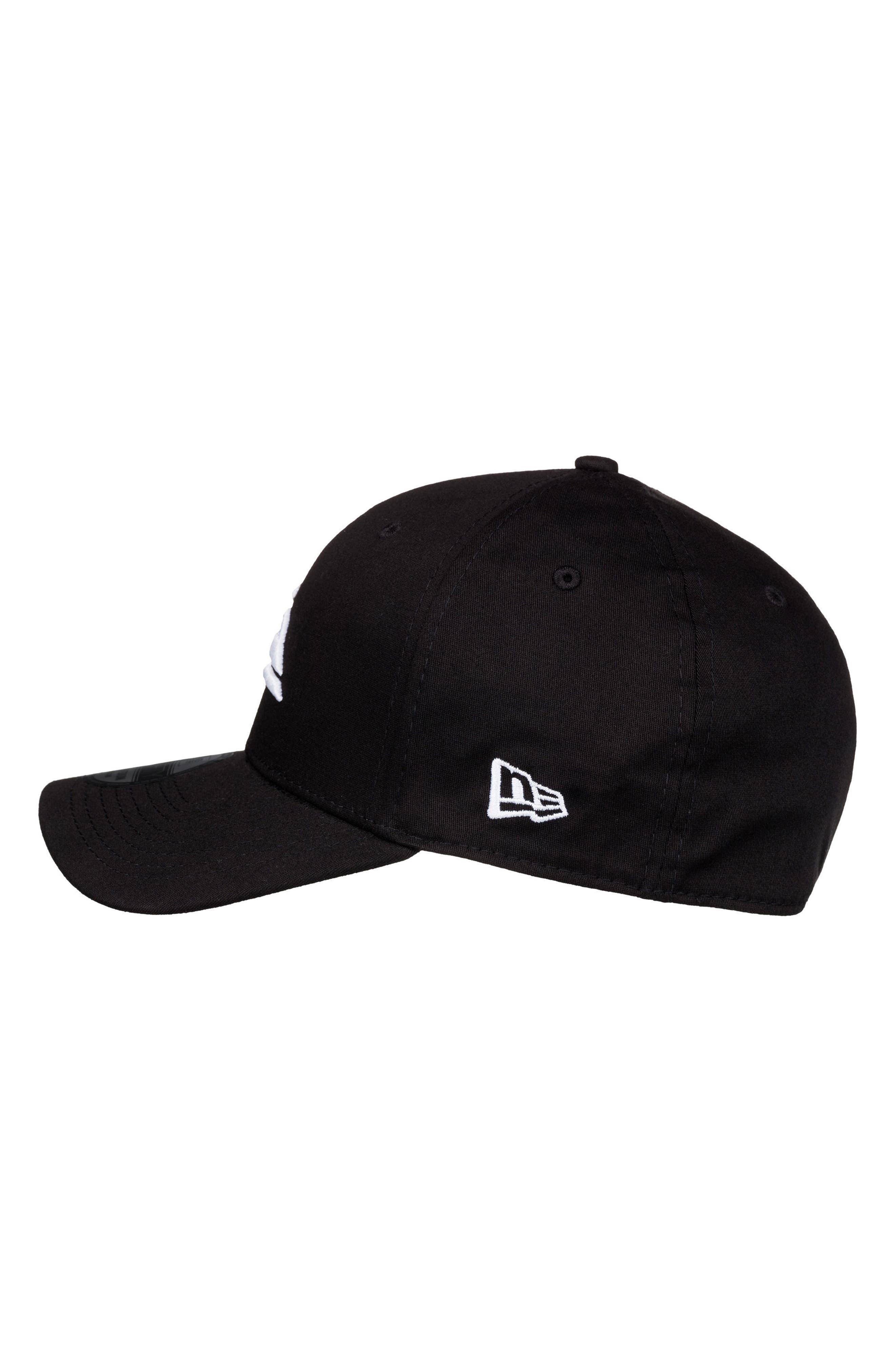 Mountain & Wave Baseball Cap,                             Alternate thumbnail 3, color,                             White