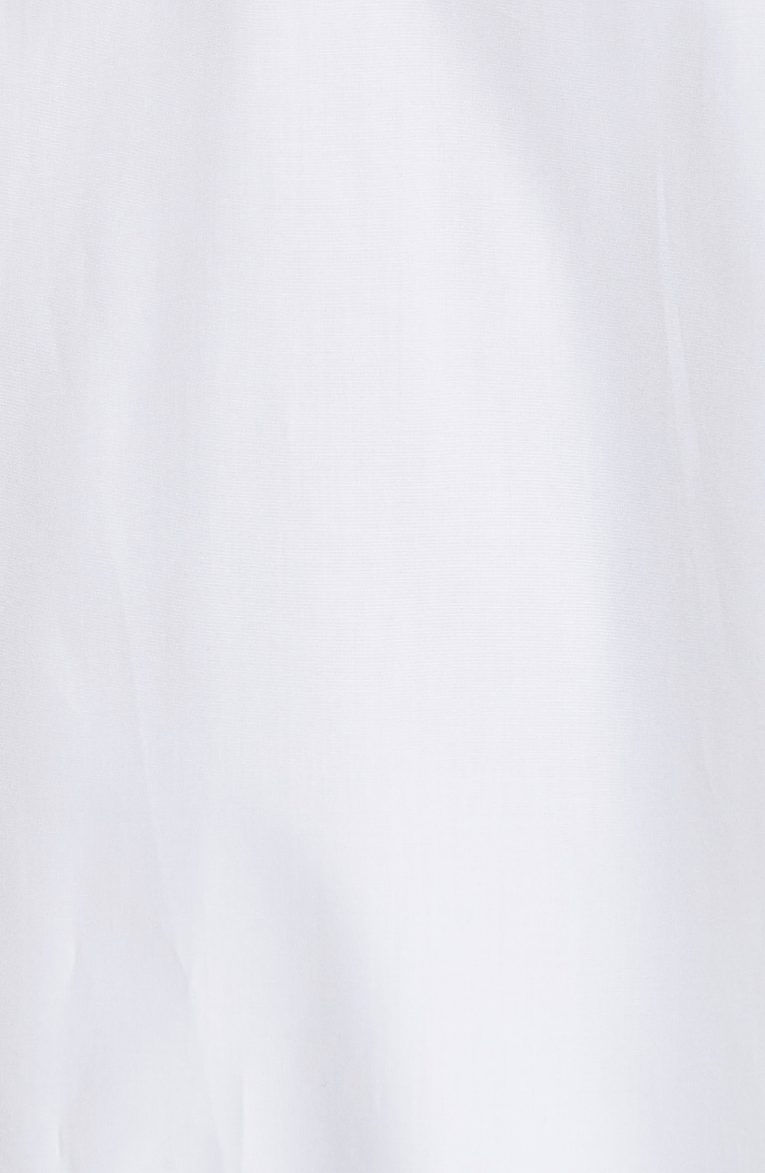 Blouson Hem Shirt,                             Alternate thumbnail 5, color,                             White