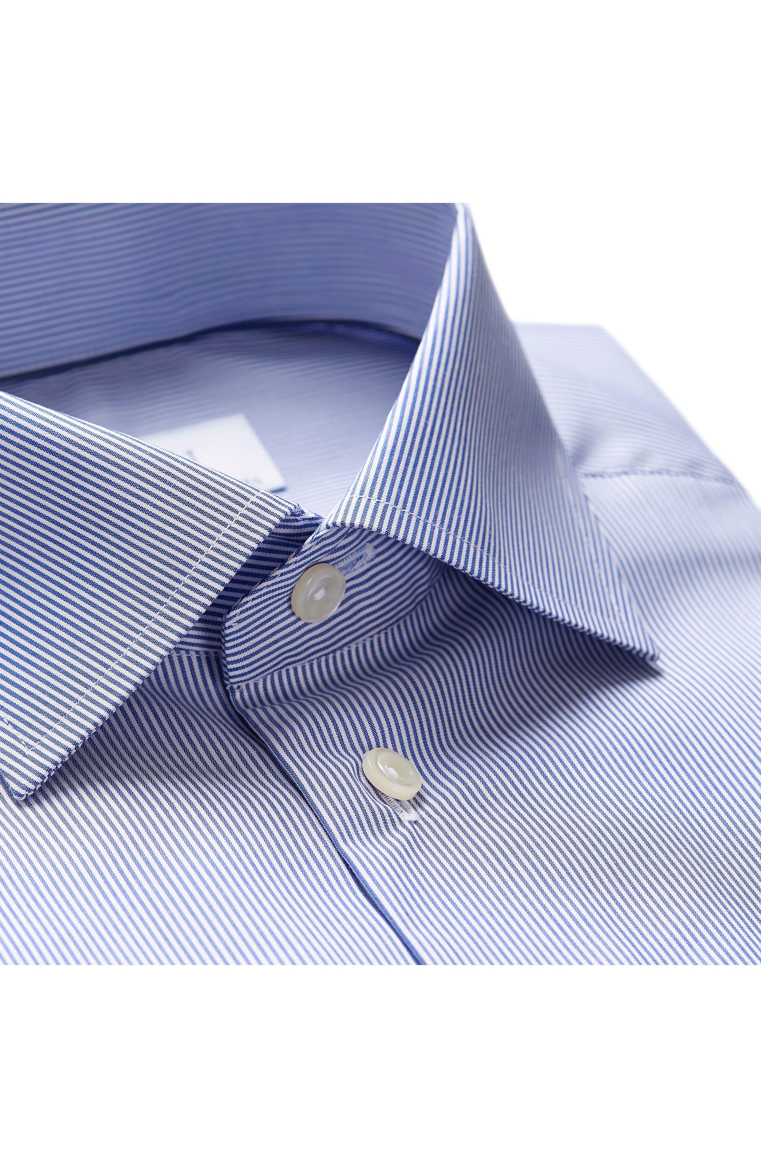 Contemporary Fit Stripe Dress Shirt,                             Alternate thumbnail 2, color,                             Mid Blue