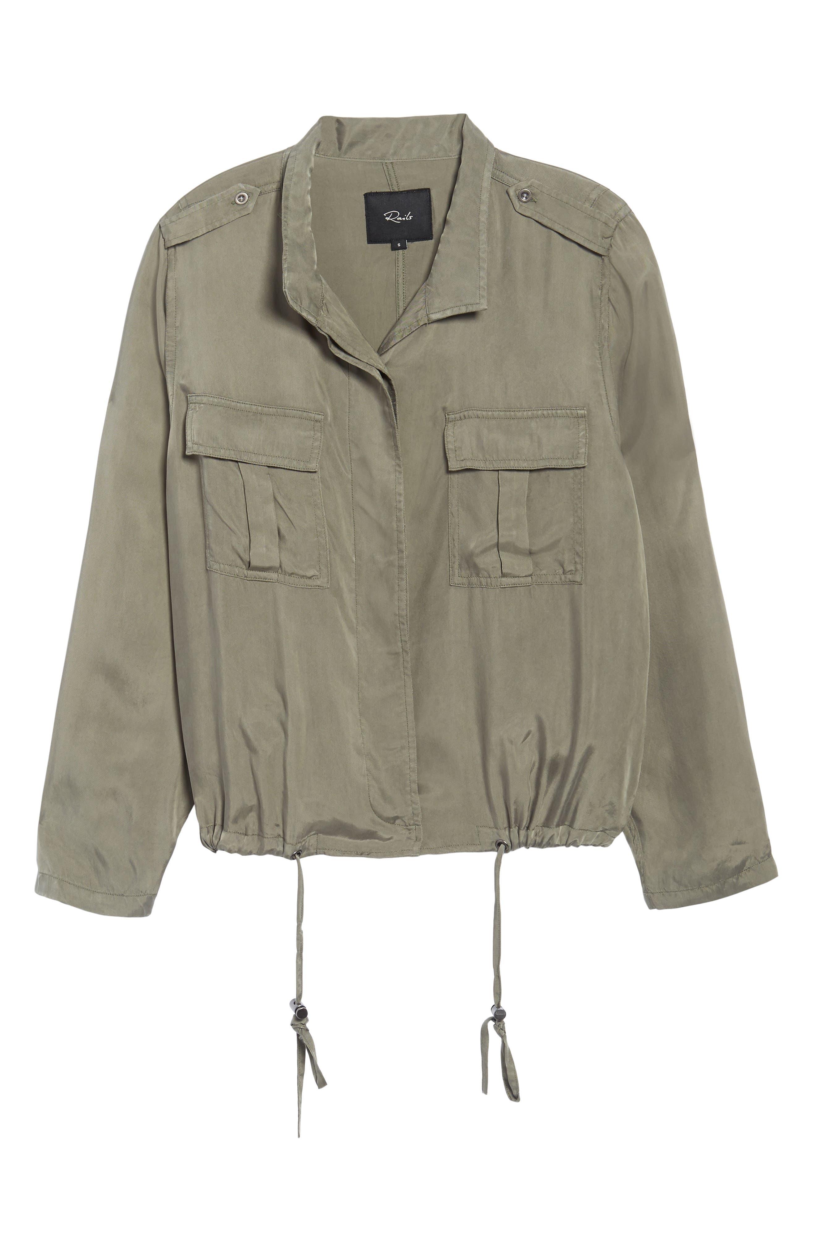 Collins Military Jacket,                             Alternate thumbnail 6, color,                             Sage