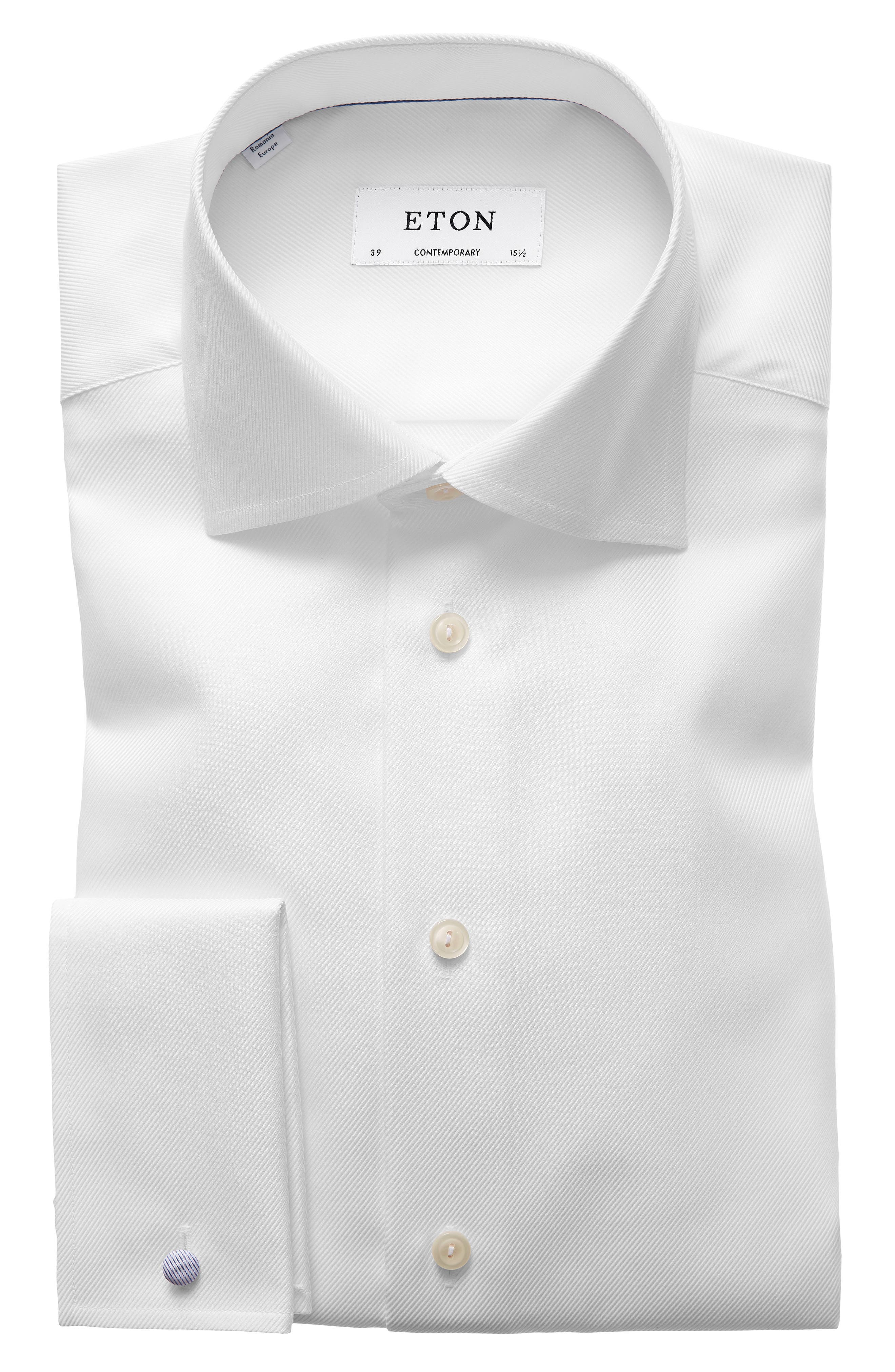 Contemporary Fit Solid Dress Shirt,                             Main thumbnail 1, color,                             White