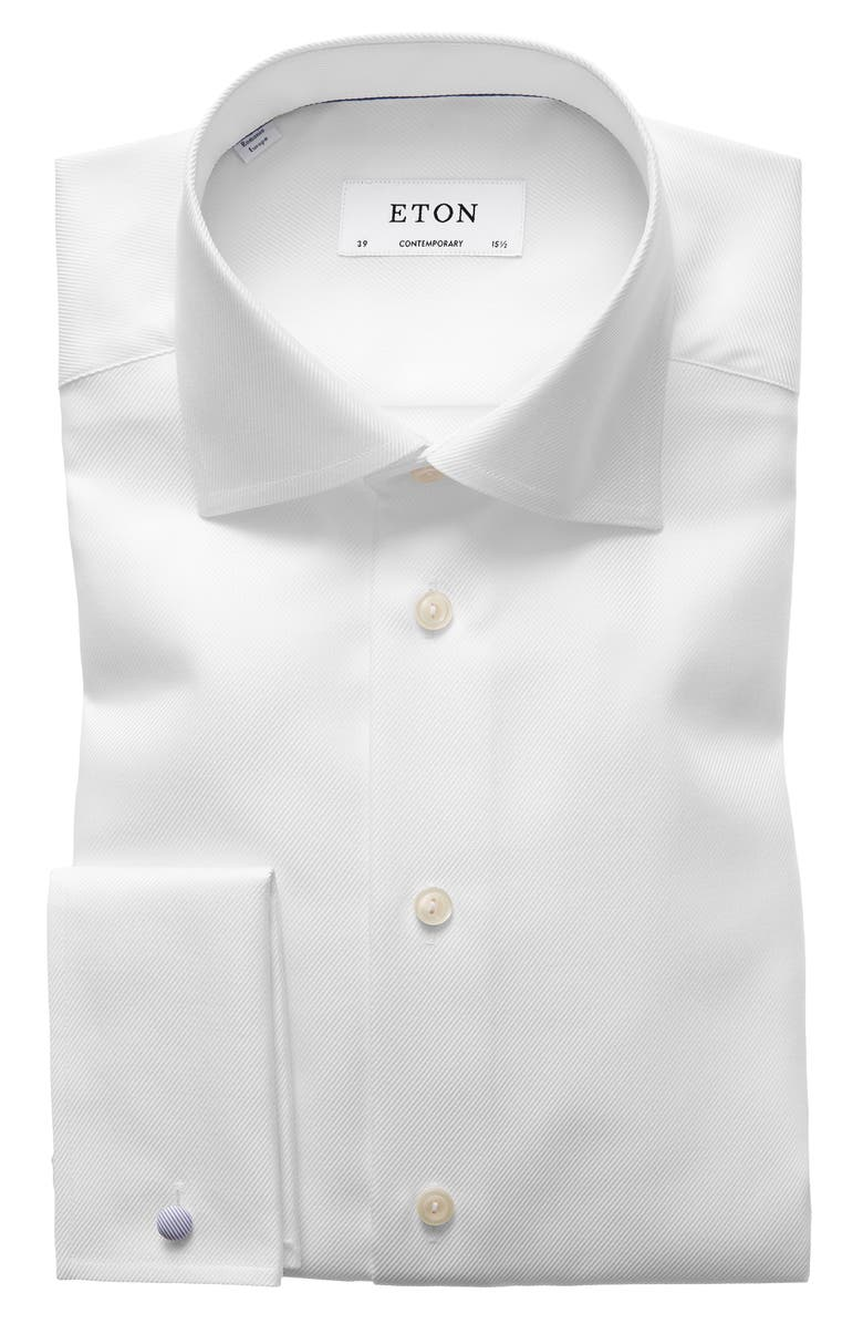Contemporary Fit Solid Dress Shirt
