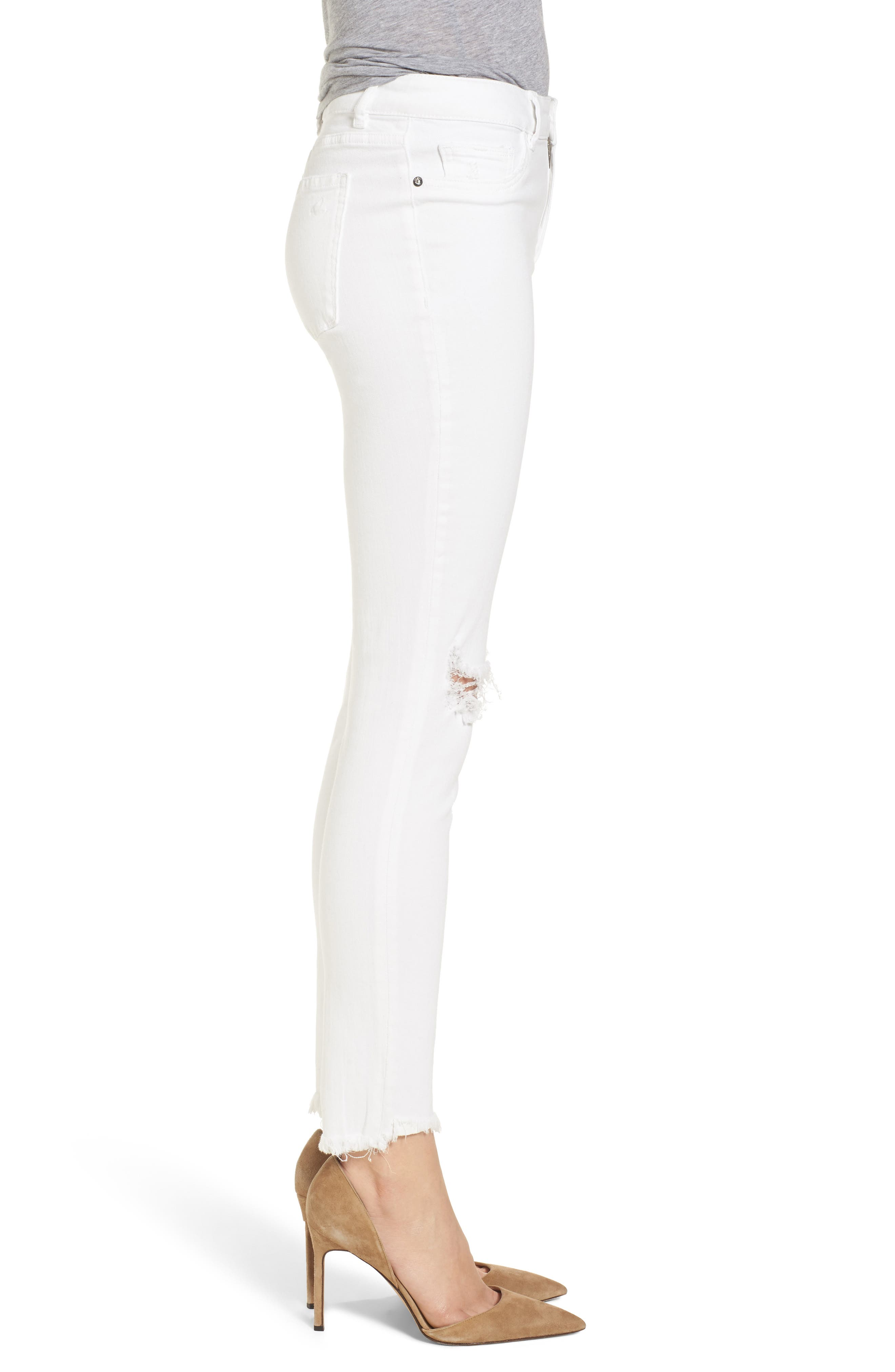 Margaux Instasculpt Ankle Skinny Jeans,                             Alternate thumbnail 3, color,                             Newport
