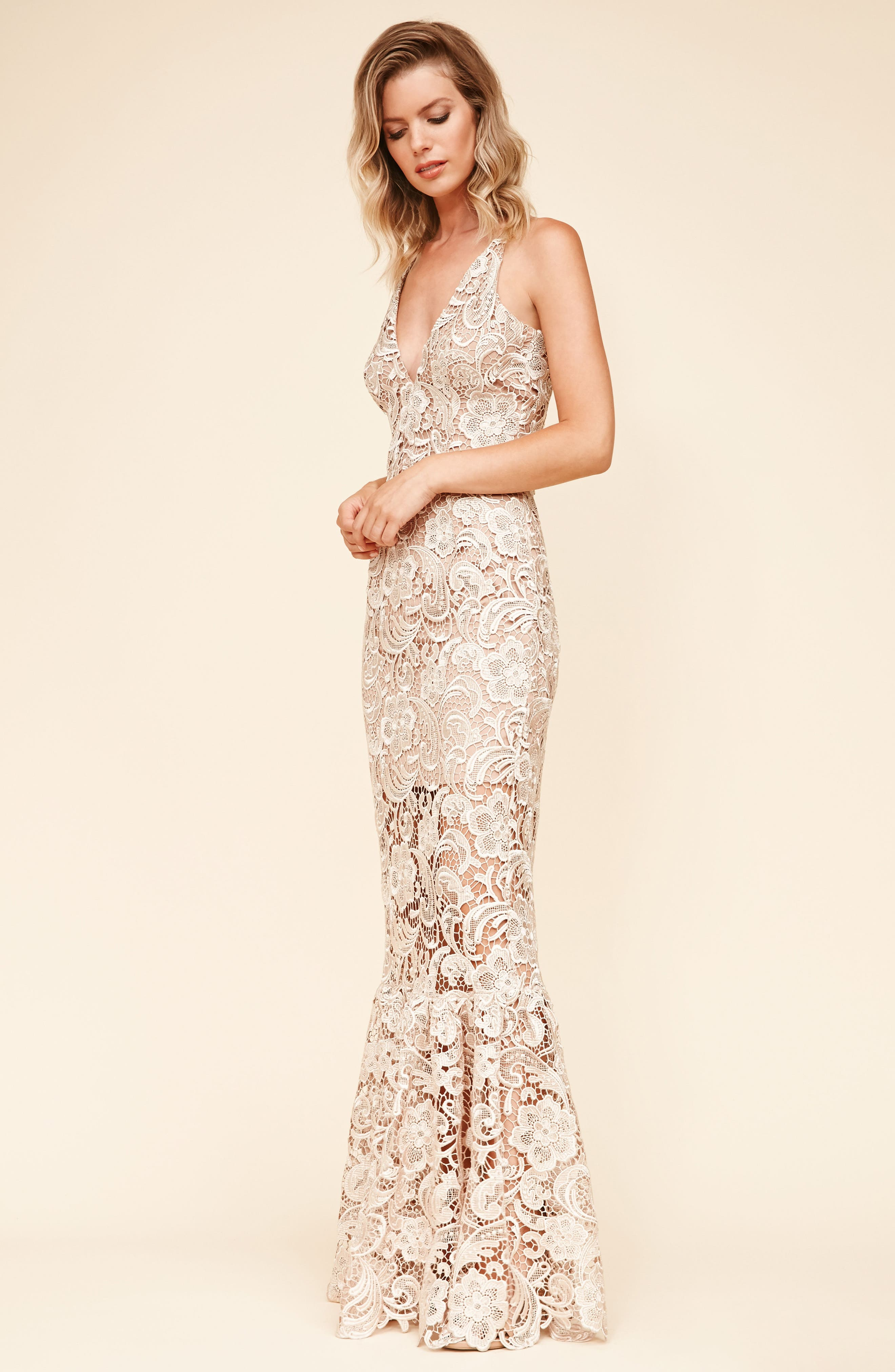 Alternate Image 4  - Dress the Population Sophia Crochet Lace Mermaid Gown