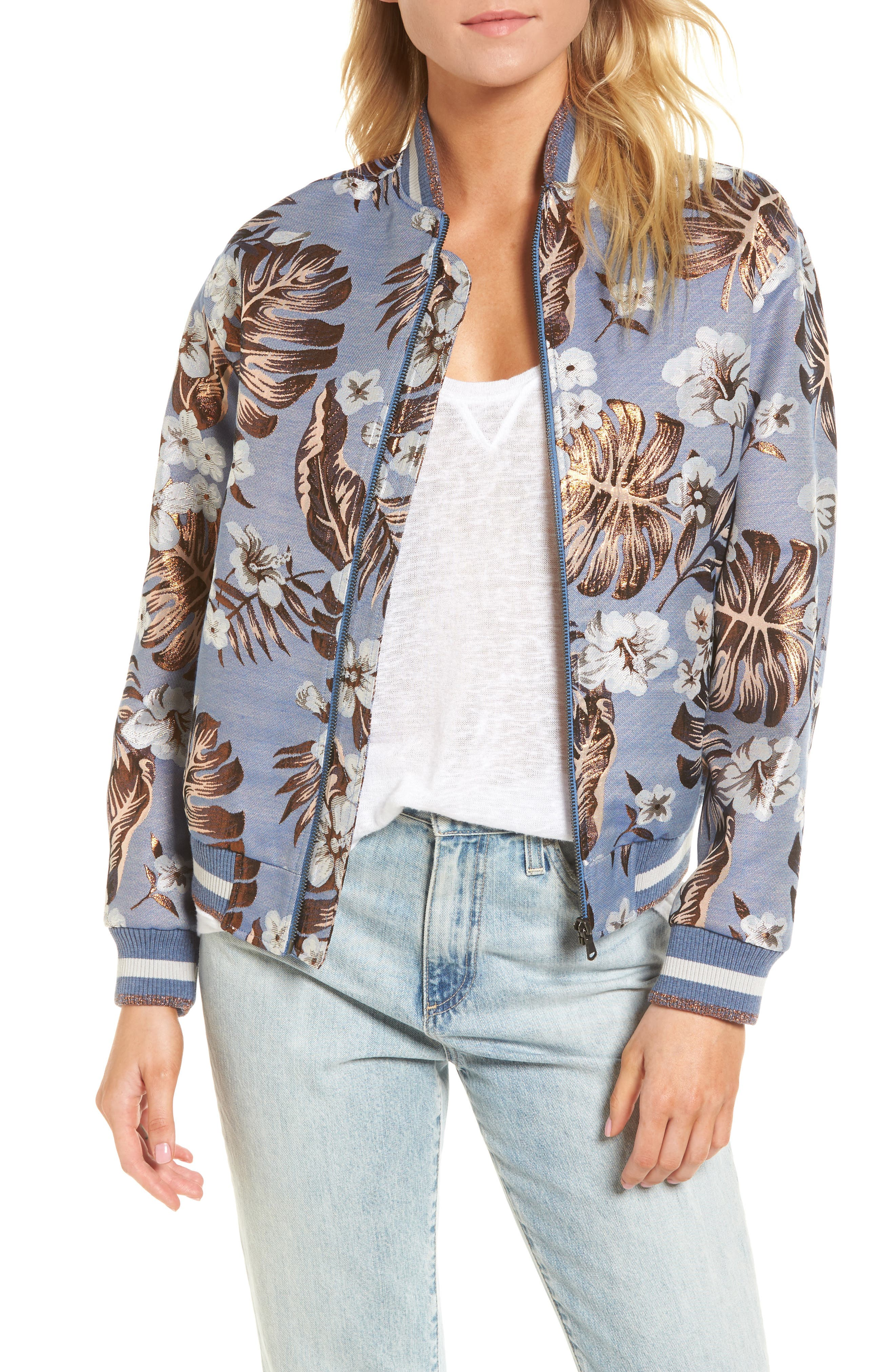 Hibiscus Jacket,                         Main,                         color, Turquoise