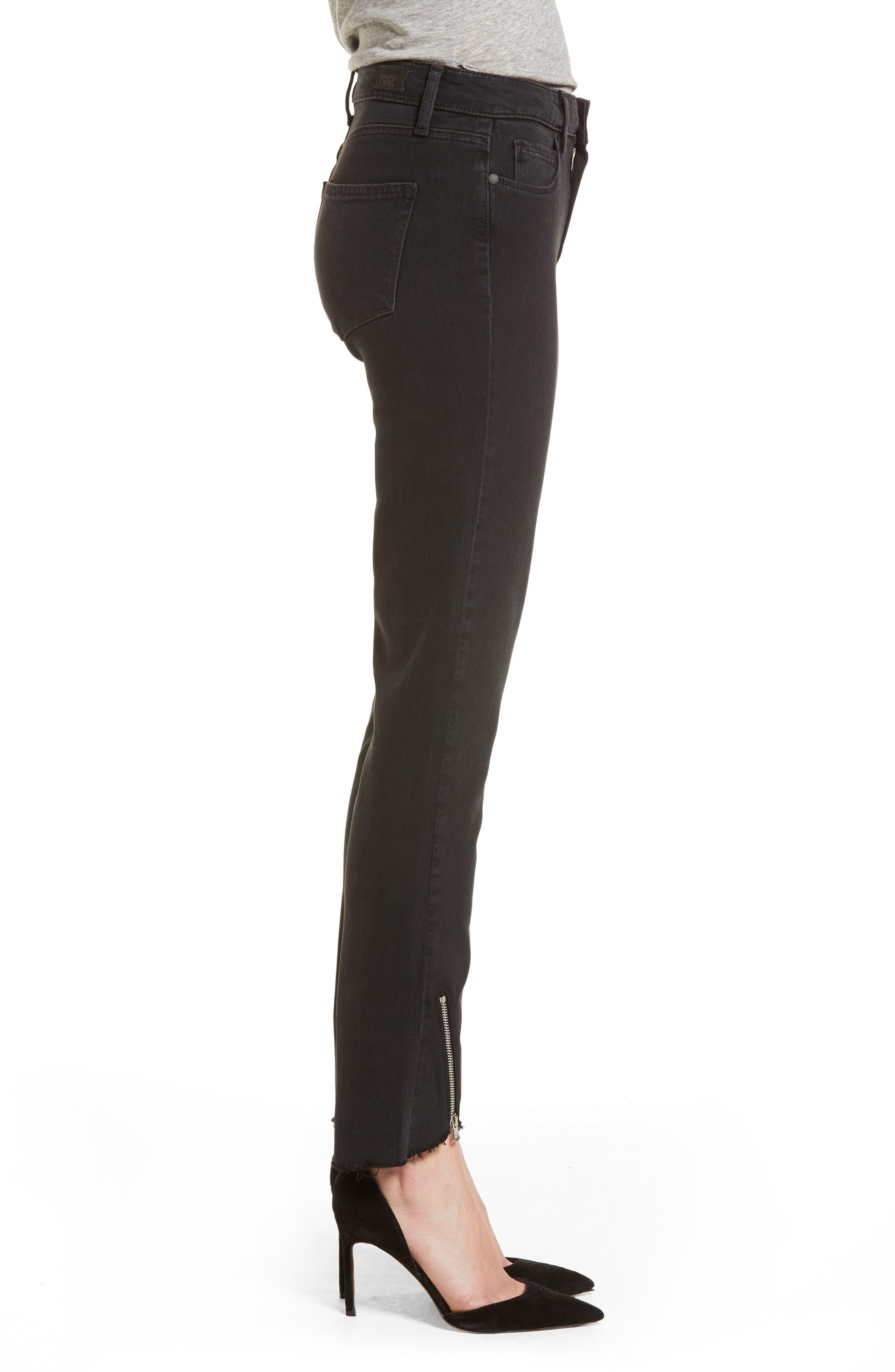 Transcend - Hoxton High Waist Ultra Skinny Jeans,                             Alternate thumbnail 3, color,                             Black Fog