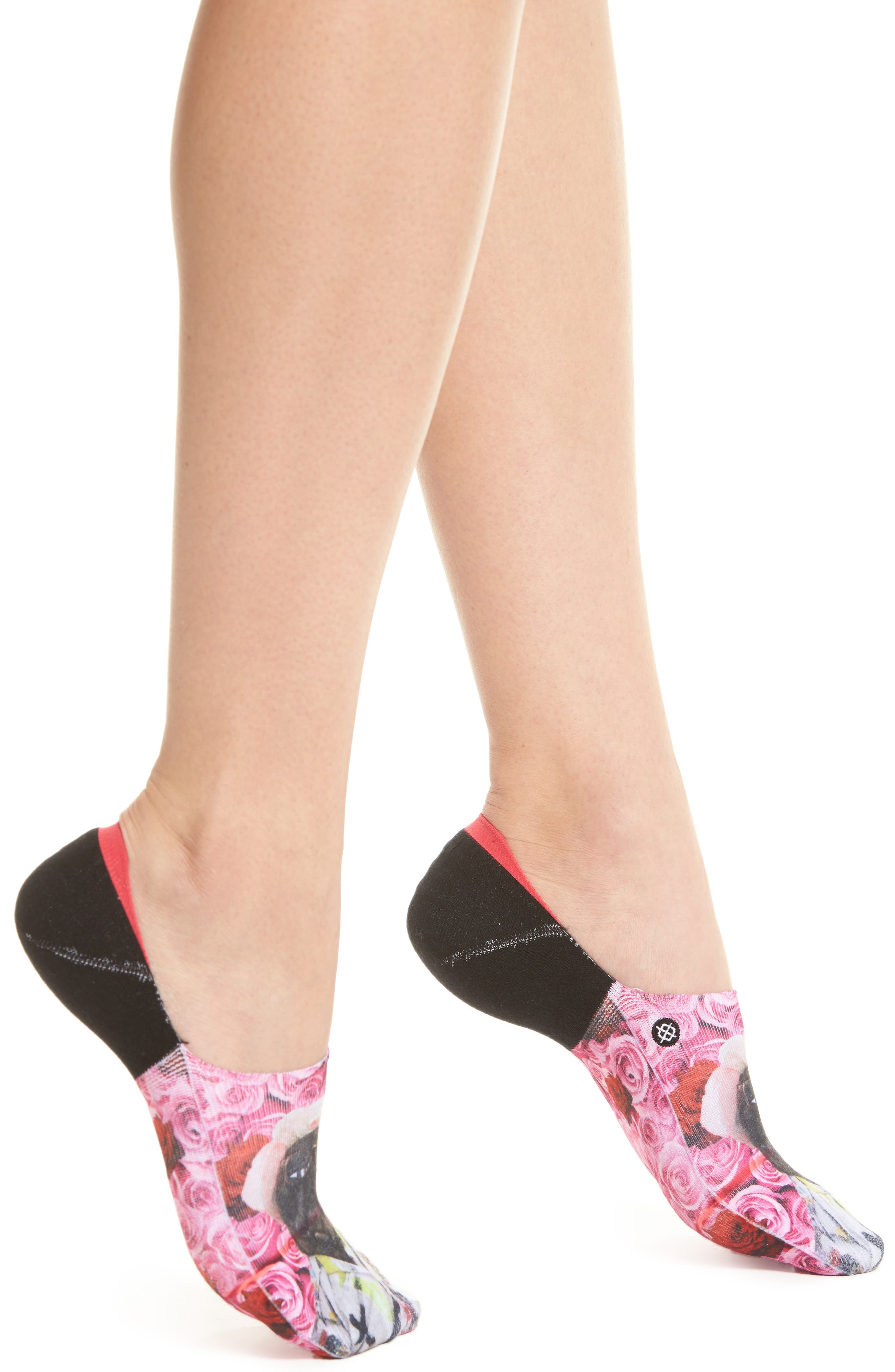 Call Me Later No-Show Socks,                             Main thumbnail 1, color,                             Black