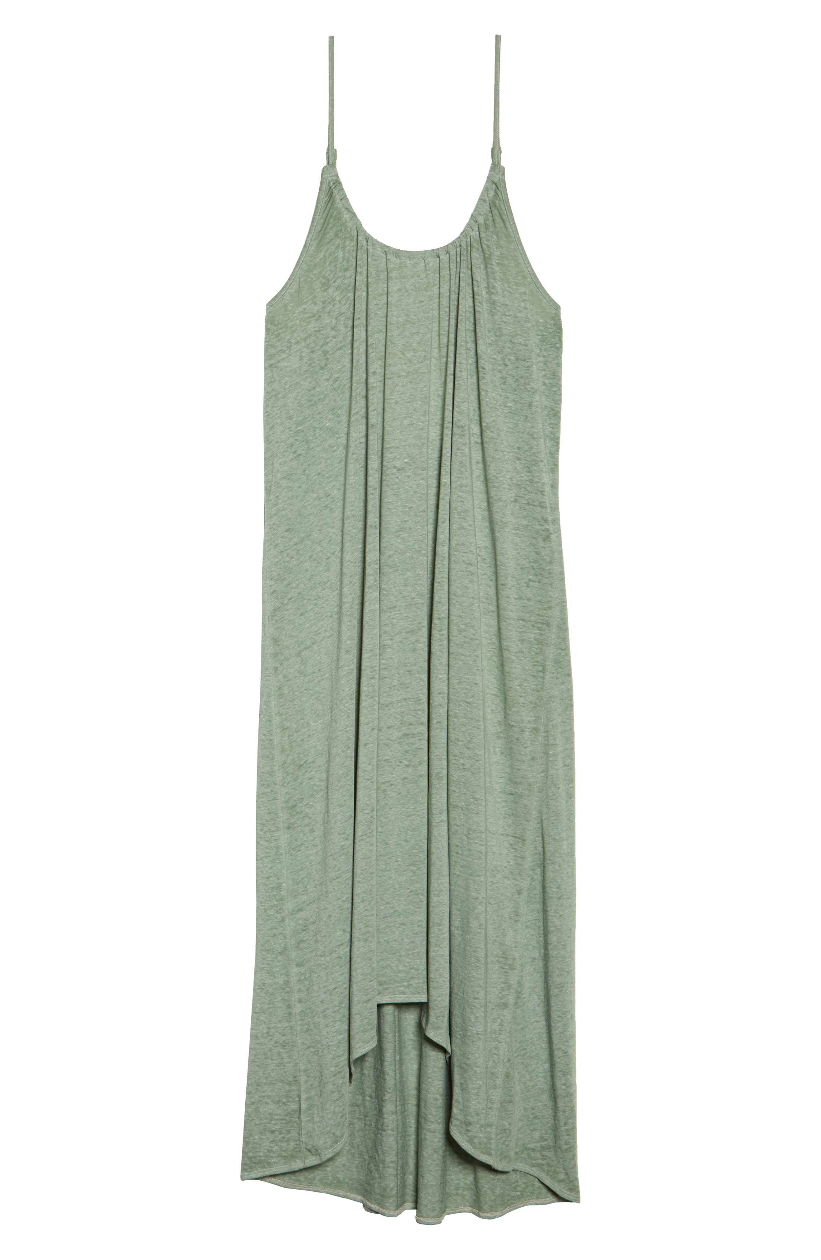 Maxi Cover-Up Dress,                             Alternate thumbnail 6, color,                             Green Dune