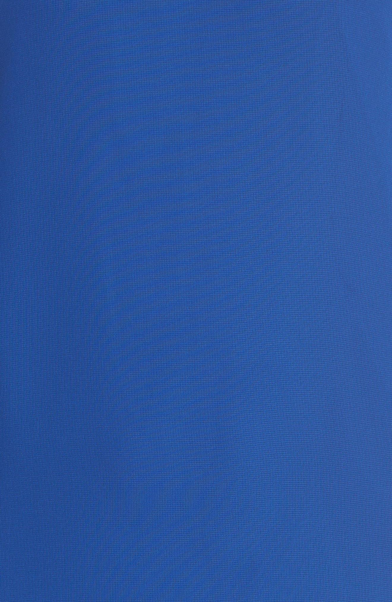 Carmen Tiered Ruffle Sleeve Shift Dress,                             Alternate thumbnail 6, color,                             Deep Sapphire