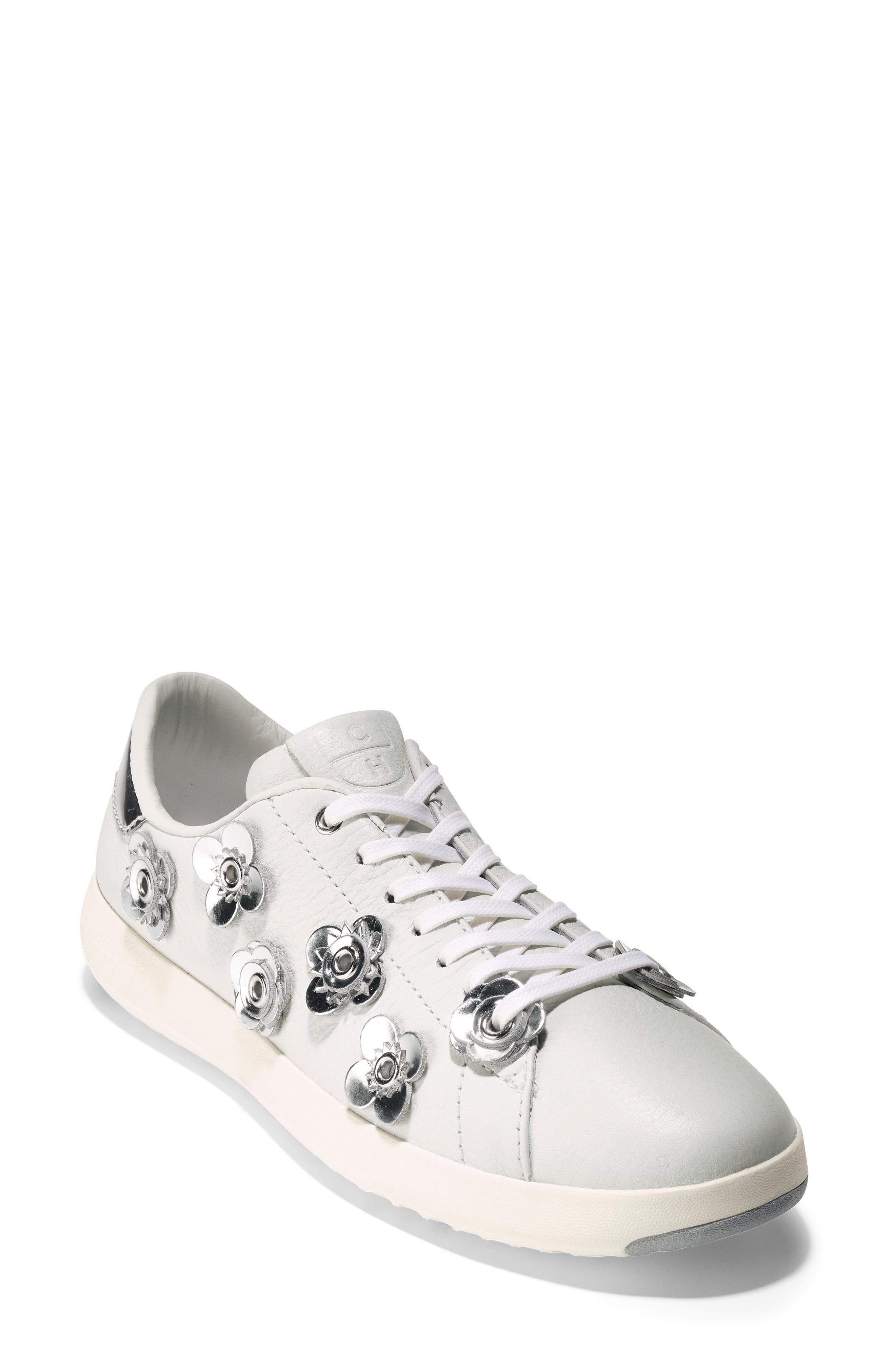 GrandPro Tennis Sneaker,                             Main thumbnail 1, color,                             White Leather