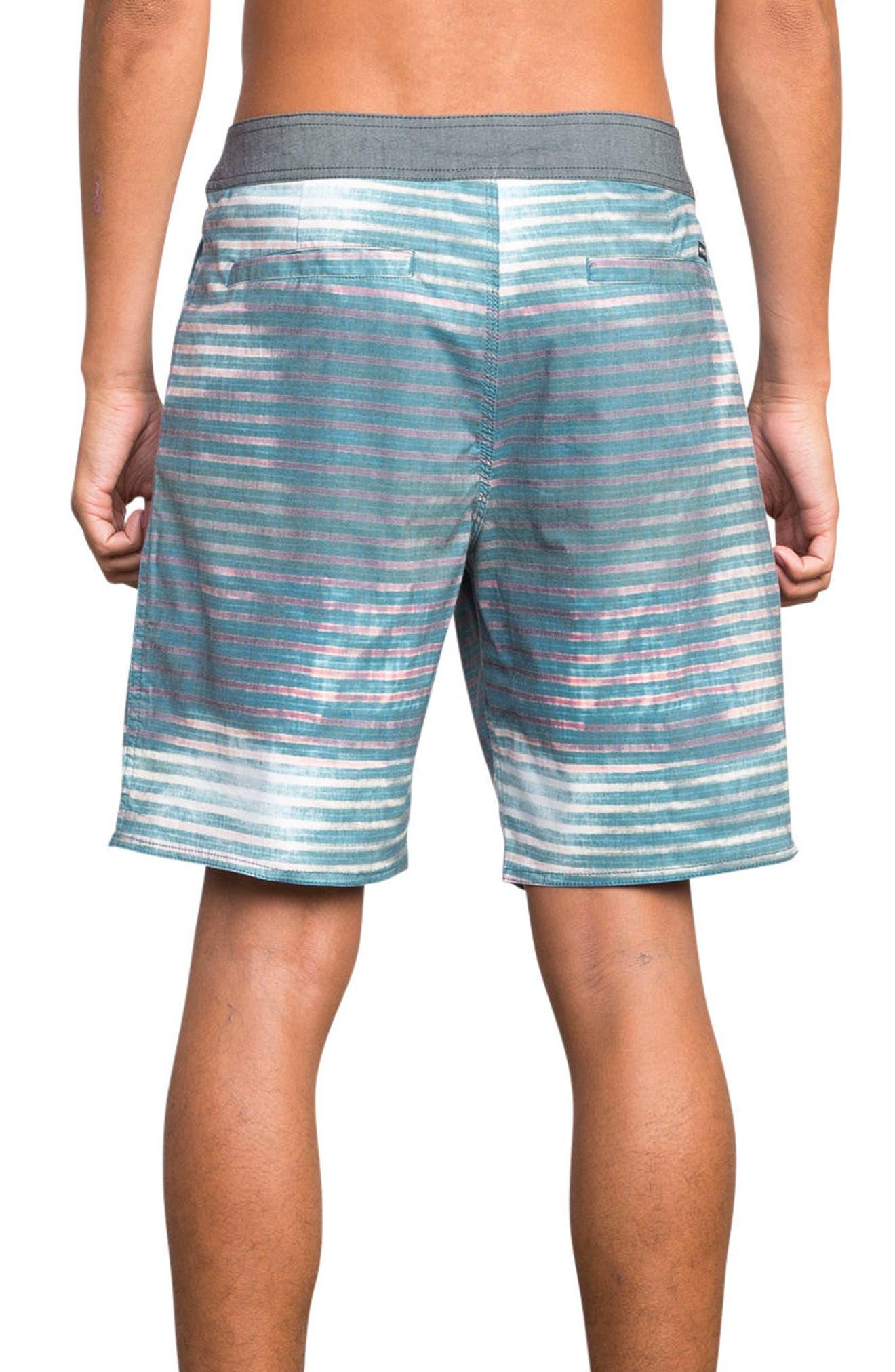 Boppa Stripe Swim Trunks,                             Alternate thumbnail 2, color,                             Blue Fade