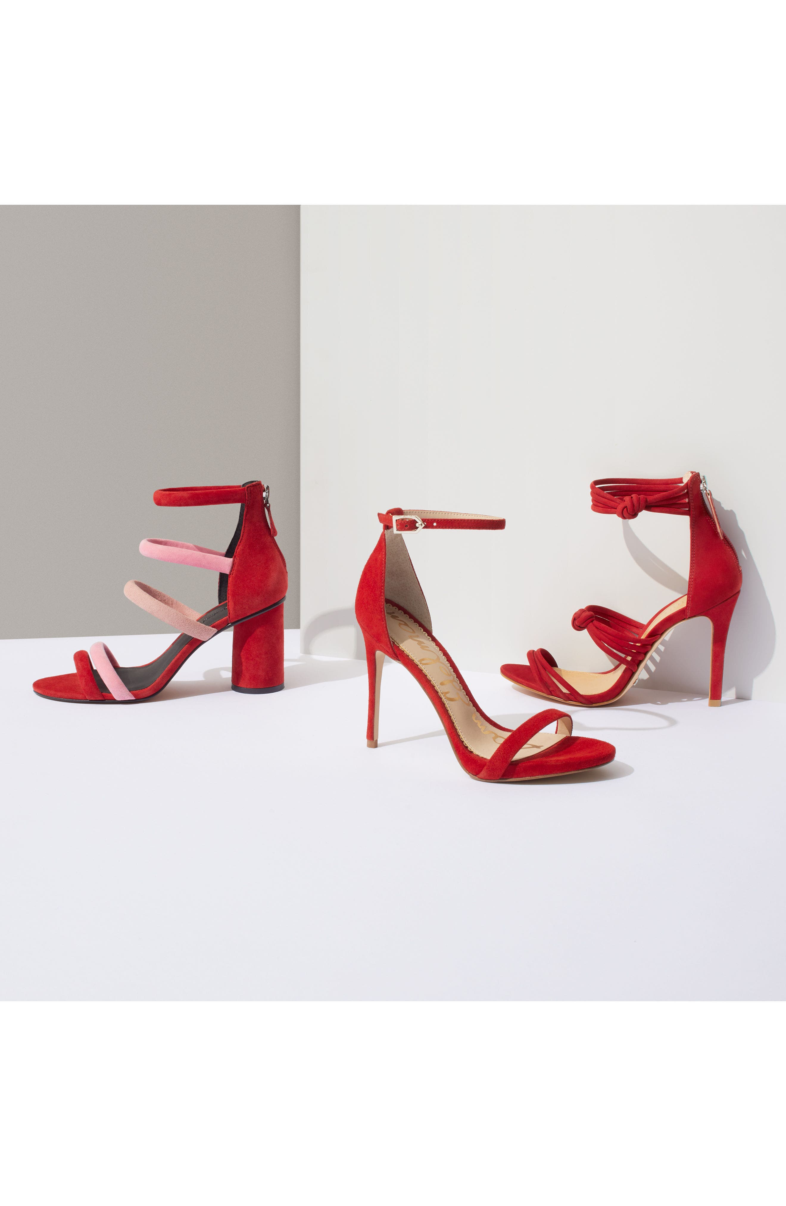 Andree Sandal,                             Alternate thumbnail 7, color,                             Cherry Suede