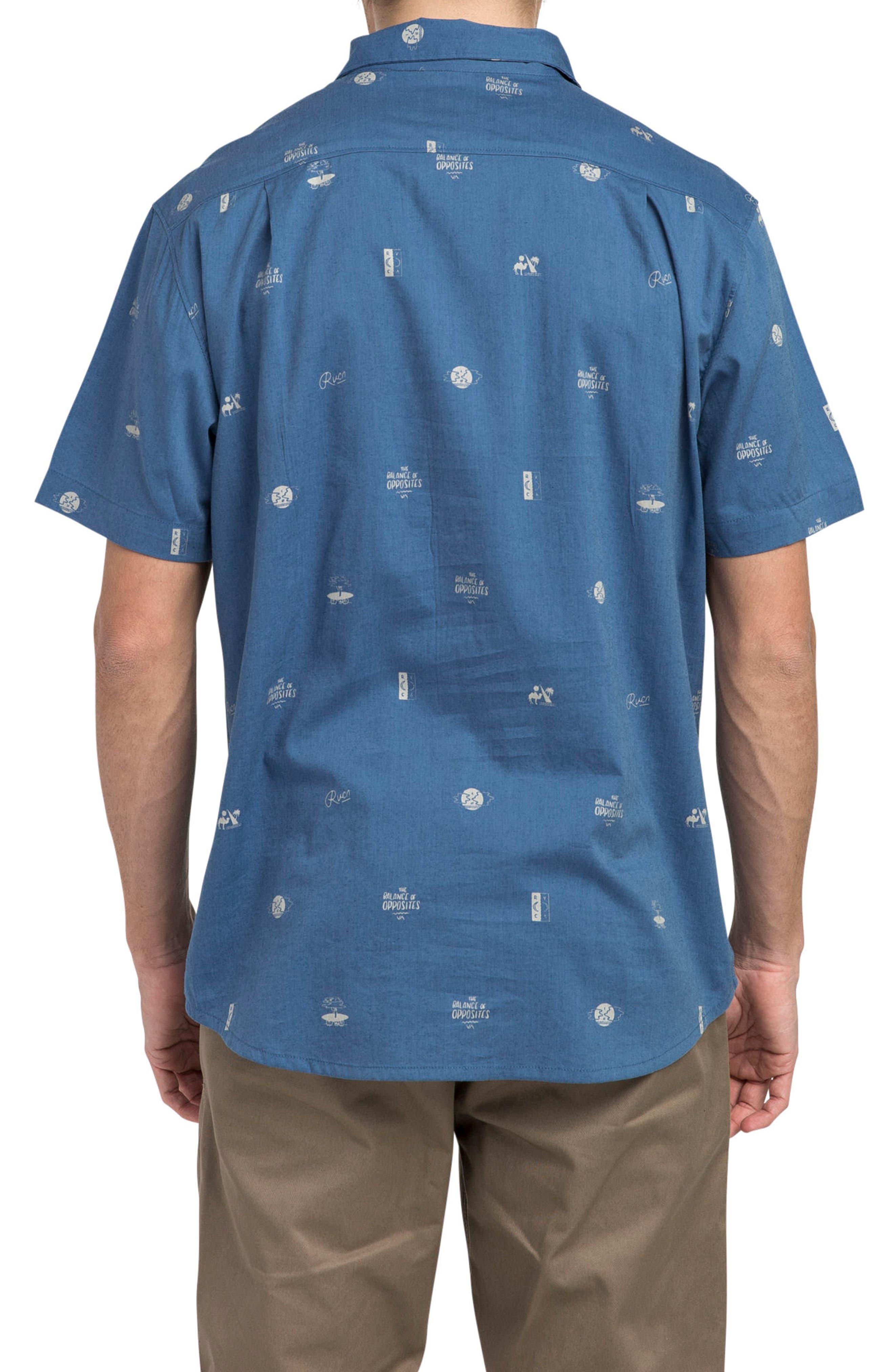 Mowgli Short Sleeve Shirt,                             Alternate thumbnail 2, color,                             Cobalt