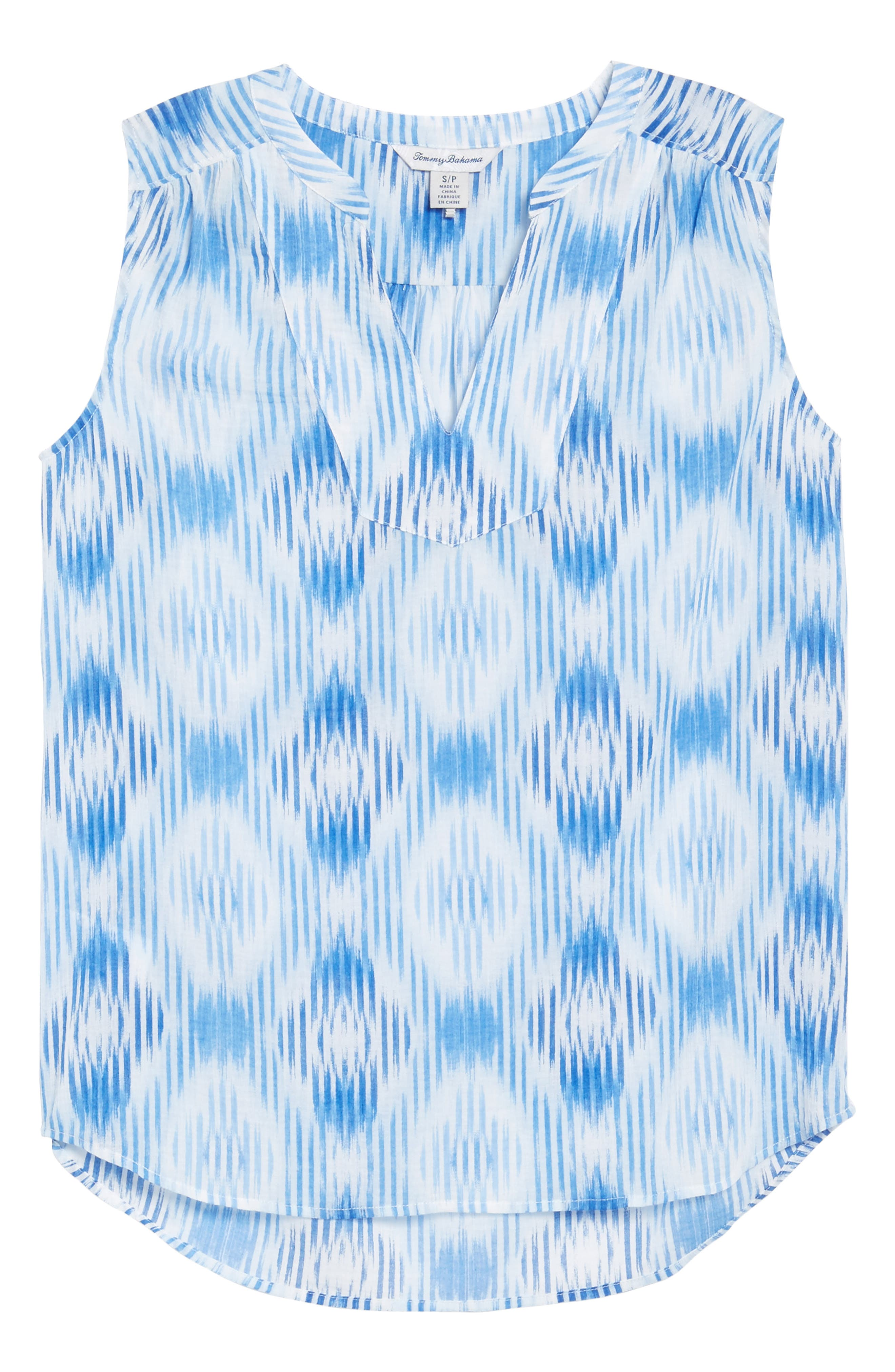 Isabella Sleeveless Cotton Top,                             Alternate thumbnail 6, color,                             Palace Blue