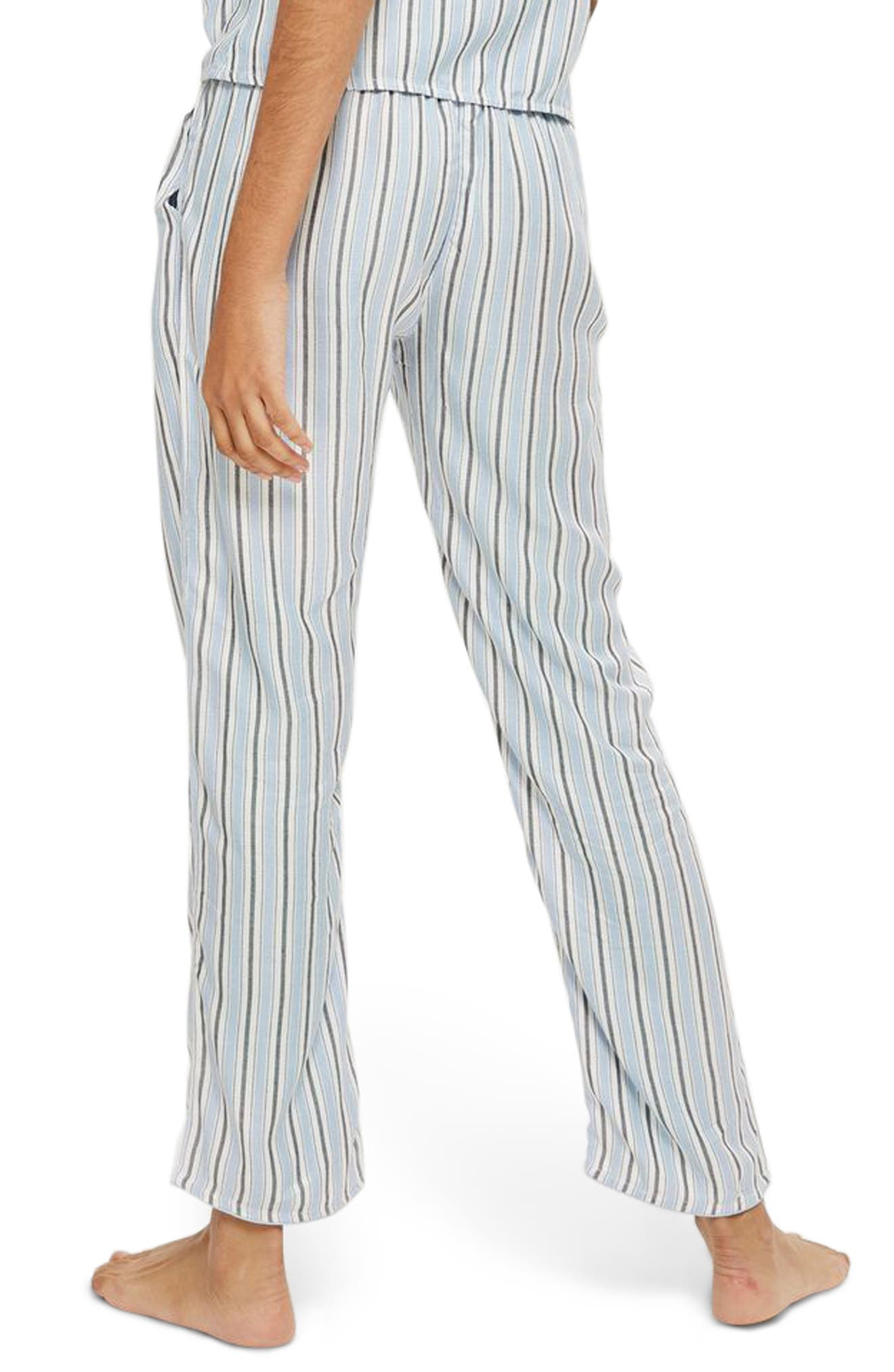 Bobby Stripe Pajama Pants,                             Alternate thumbnail 2, color,                             Blue Multi