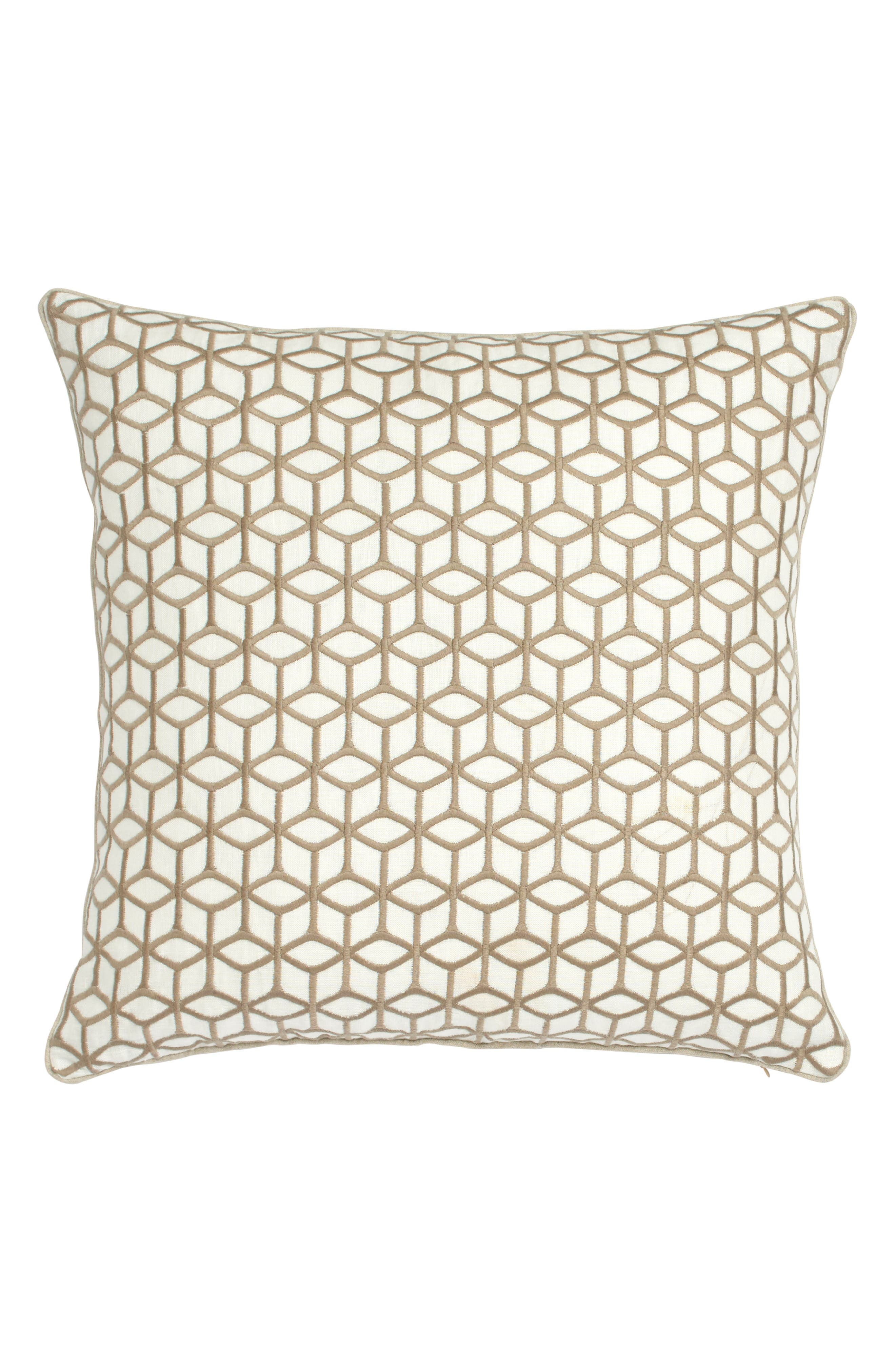 Harlequin Lotus Accent Pillow