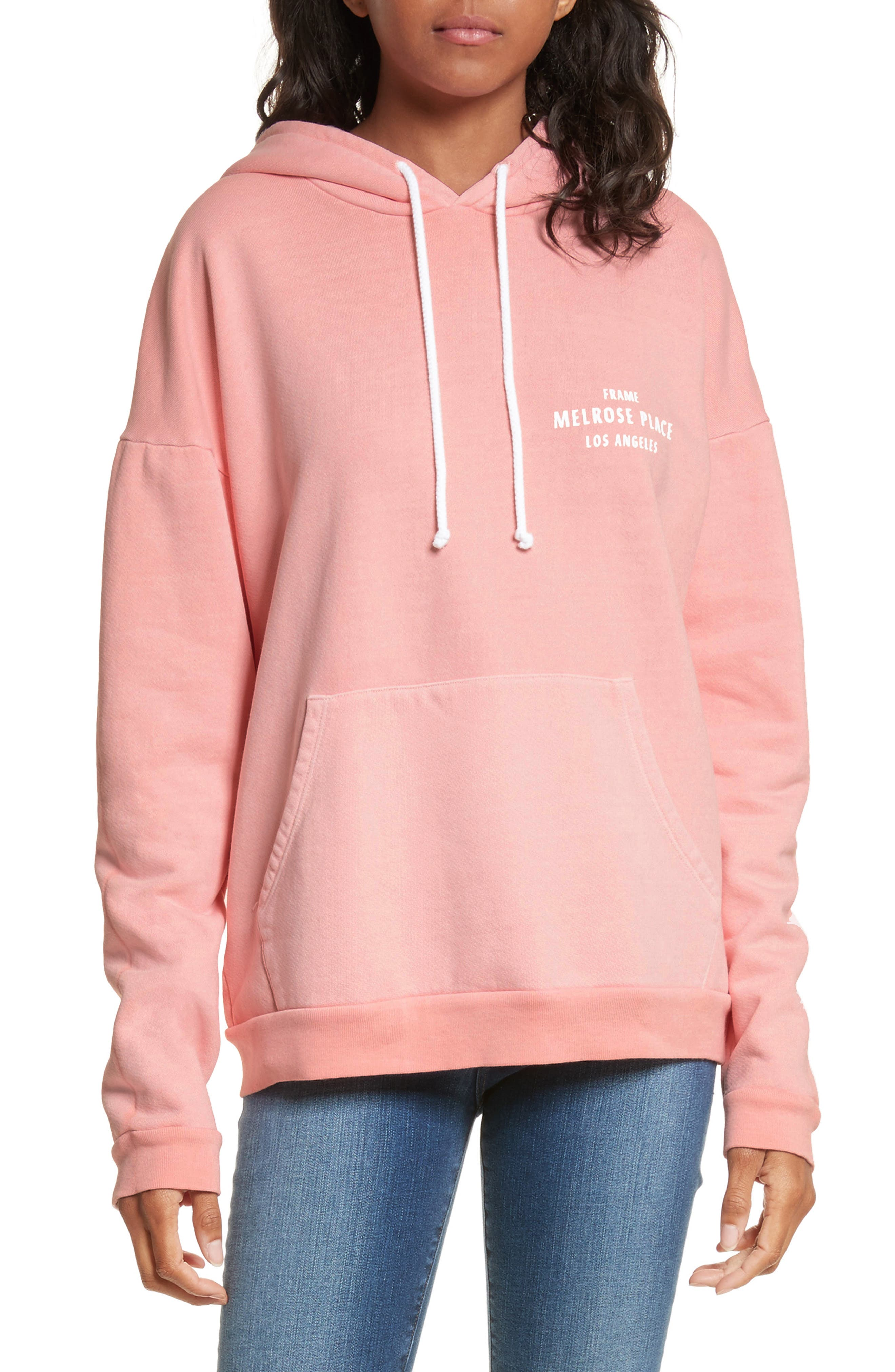 Oversize Hoodie,                         Main,                         color, Faded Light Pink