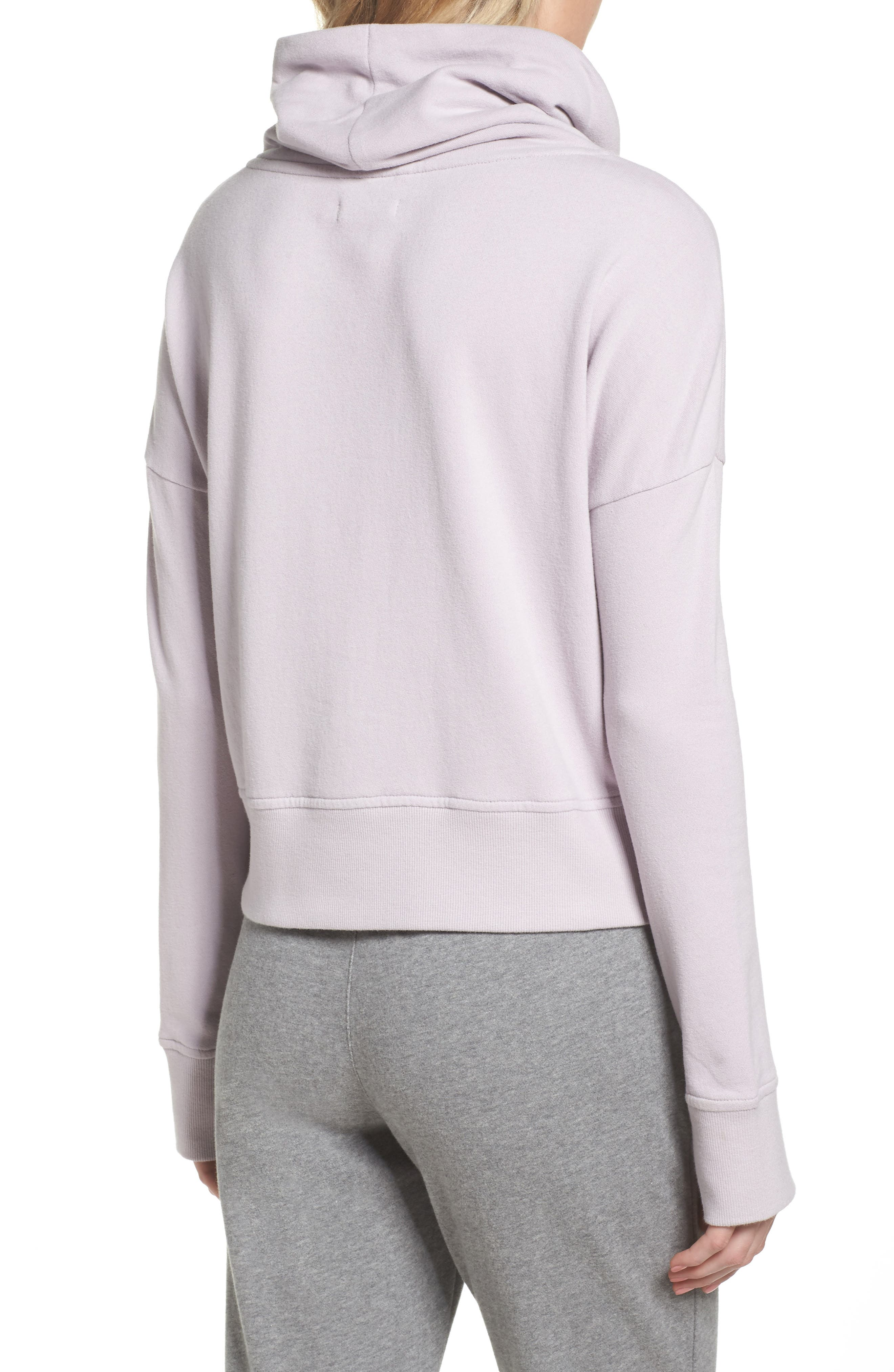 Miya Funnel Neck Sweatshirt,                             Alternate thumbnail 2, color,                             Lavender Fog