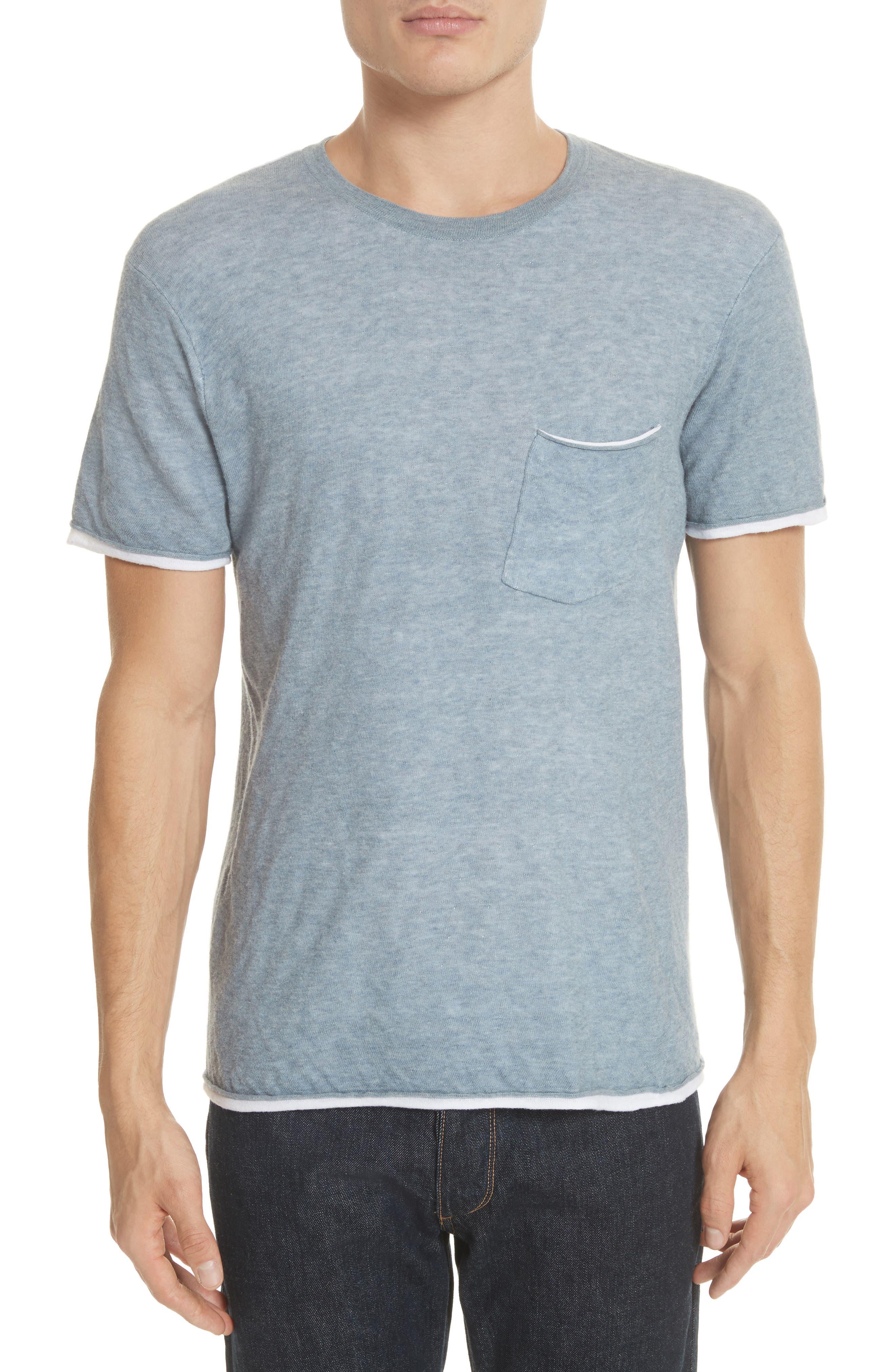 Tripp Pocket T-Shirt,                             Main thumbnail 1, color,                             Light Blue