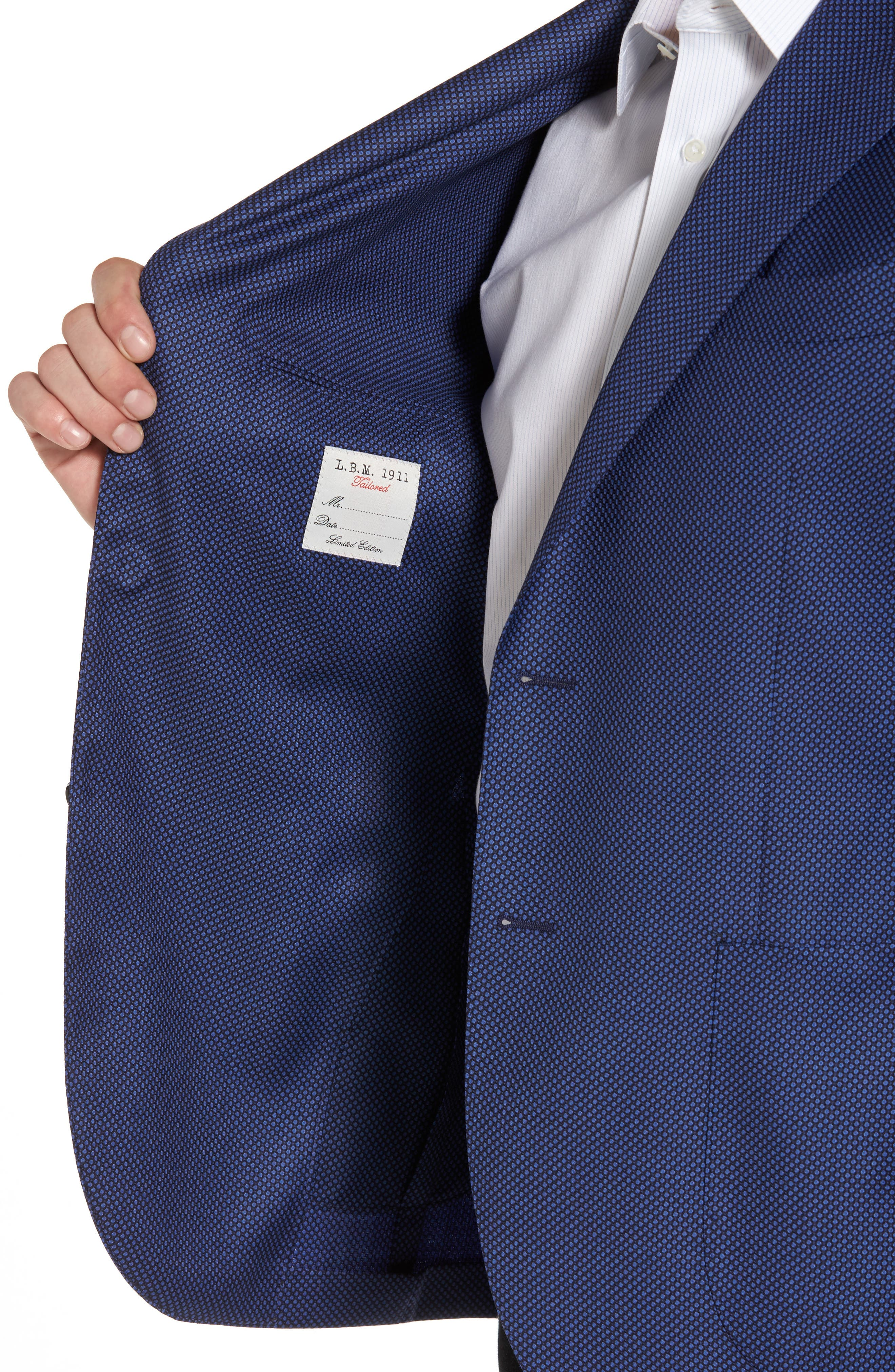 Classic Fit Wool Blazer,                             Alternate thumbnail 4, color,                             Navy