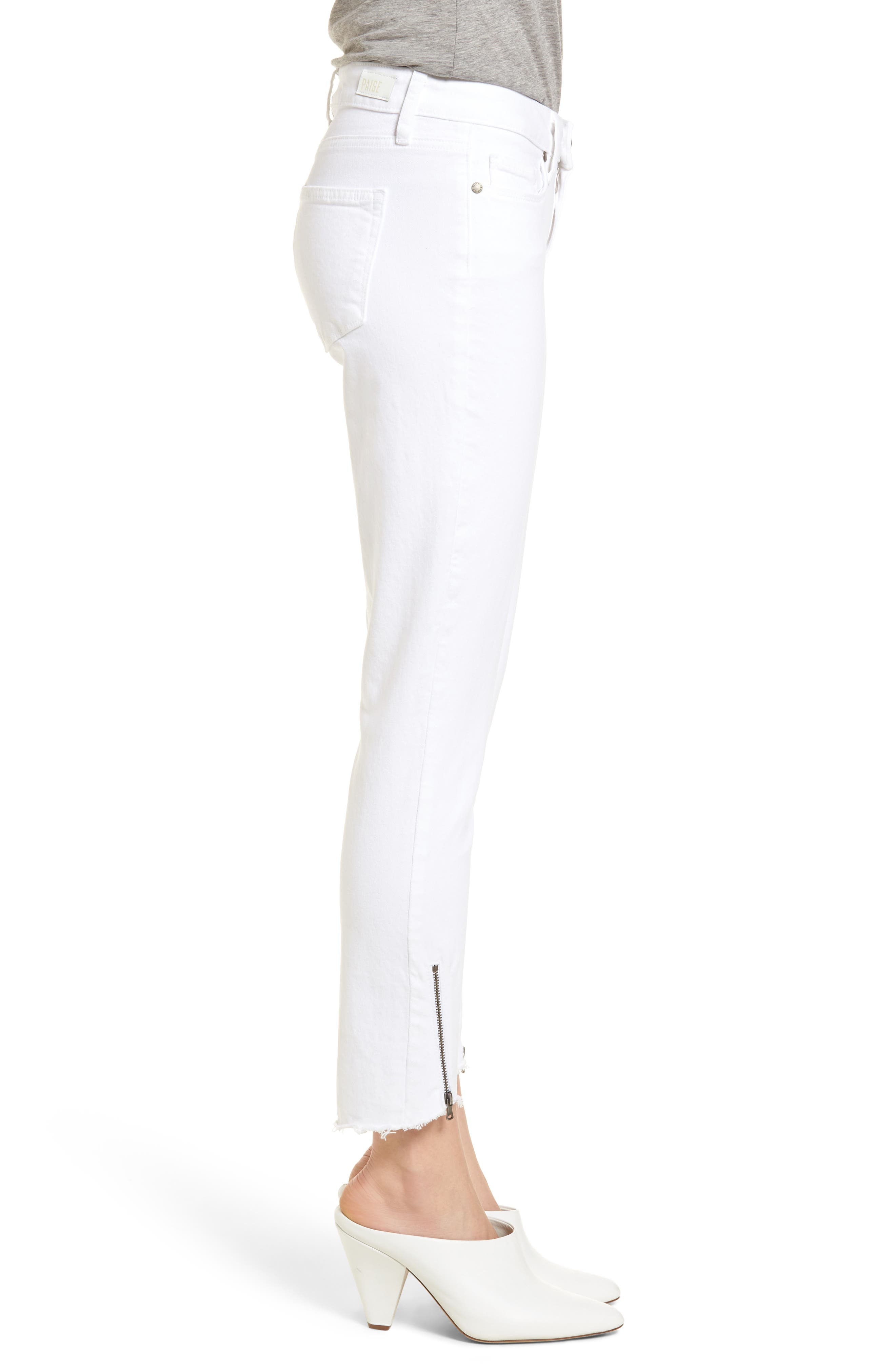 Verdugo Crop Ultra Skinny Jeans,                             Alternate thumbnail 3, color,                             Crisp White