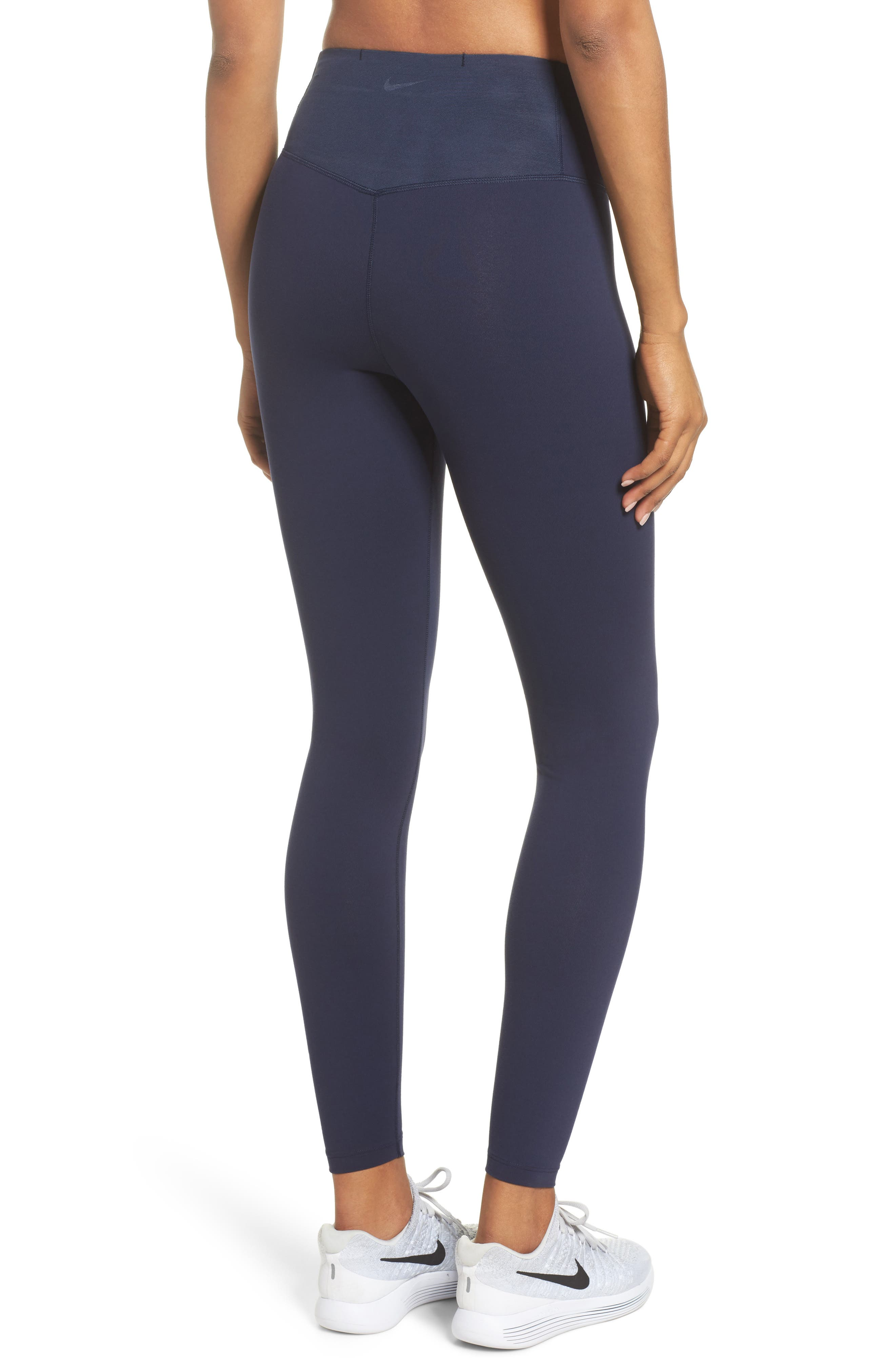 Sculpt Lux Training Tights,                             Alternate thumbnail 2, color,                             Obsidian/Clear
