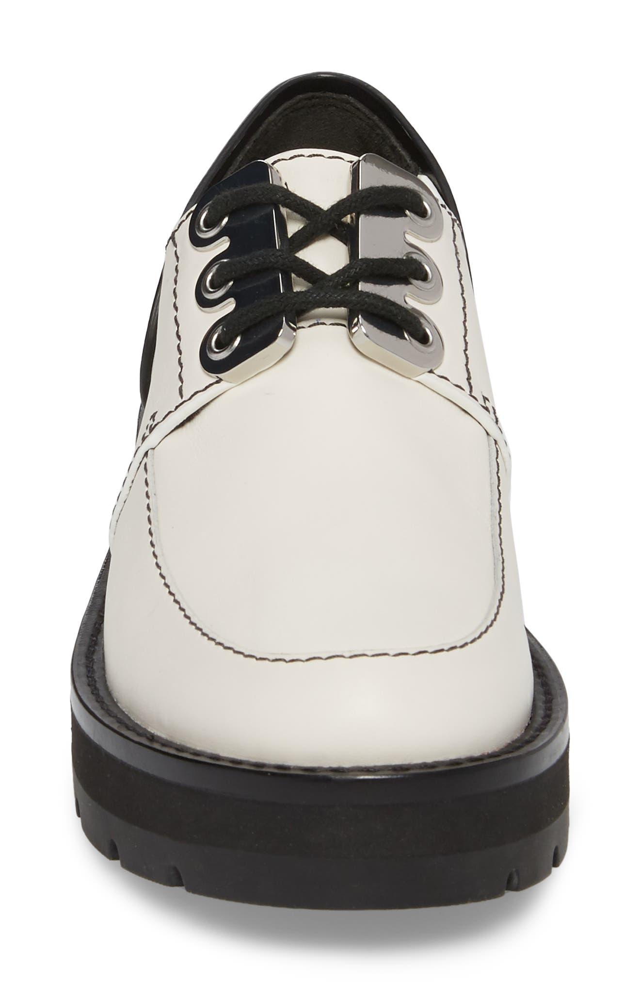 Cat Loafer,                             Alternate thumbnail 4, color,                             White-Black