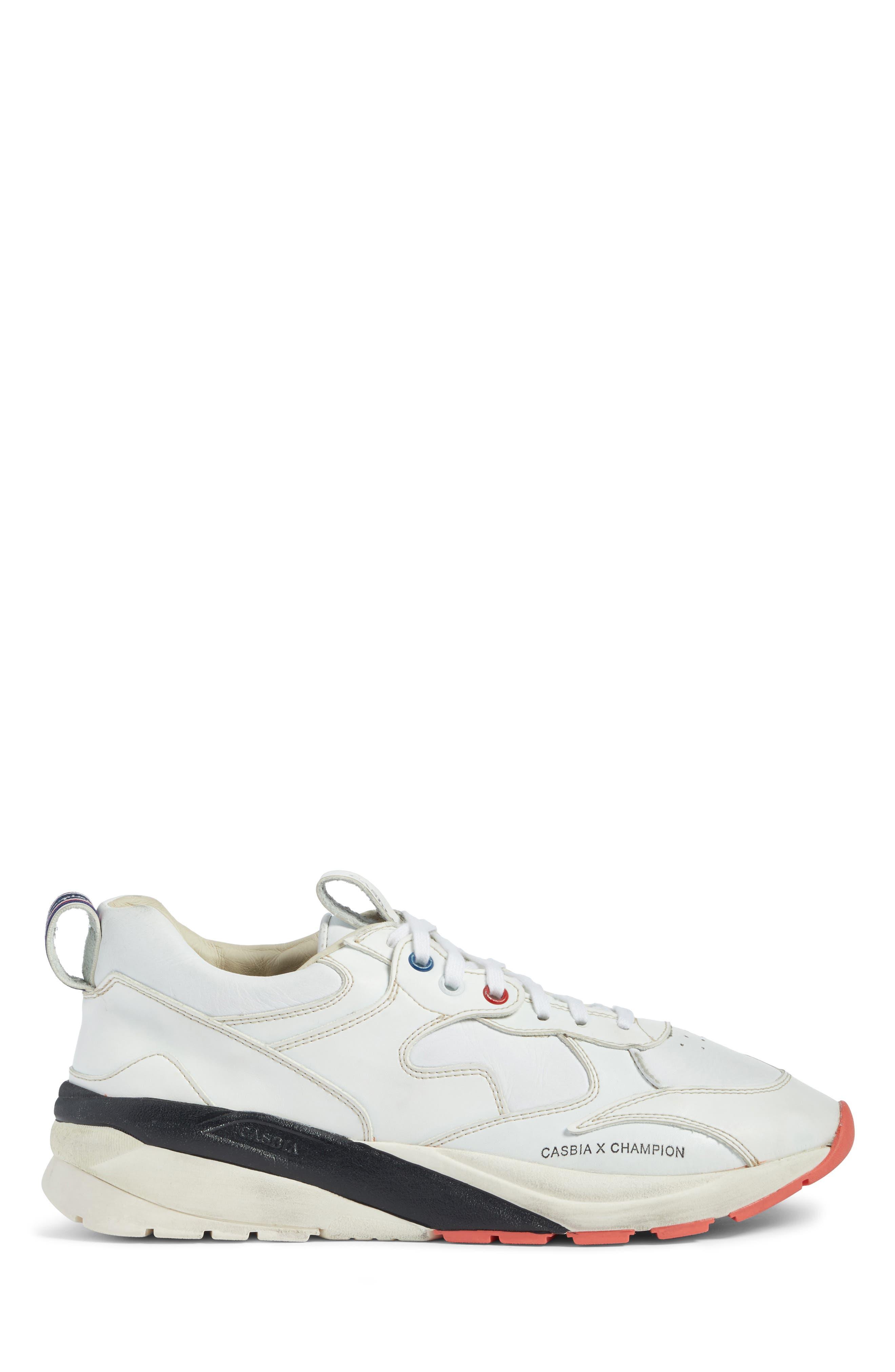 Champion Veloce ATL Sneaker,                             Alternate thumbnail 3, color,                             White Leather