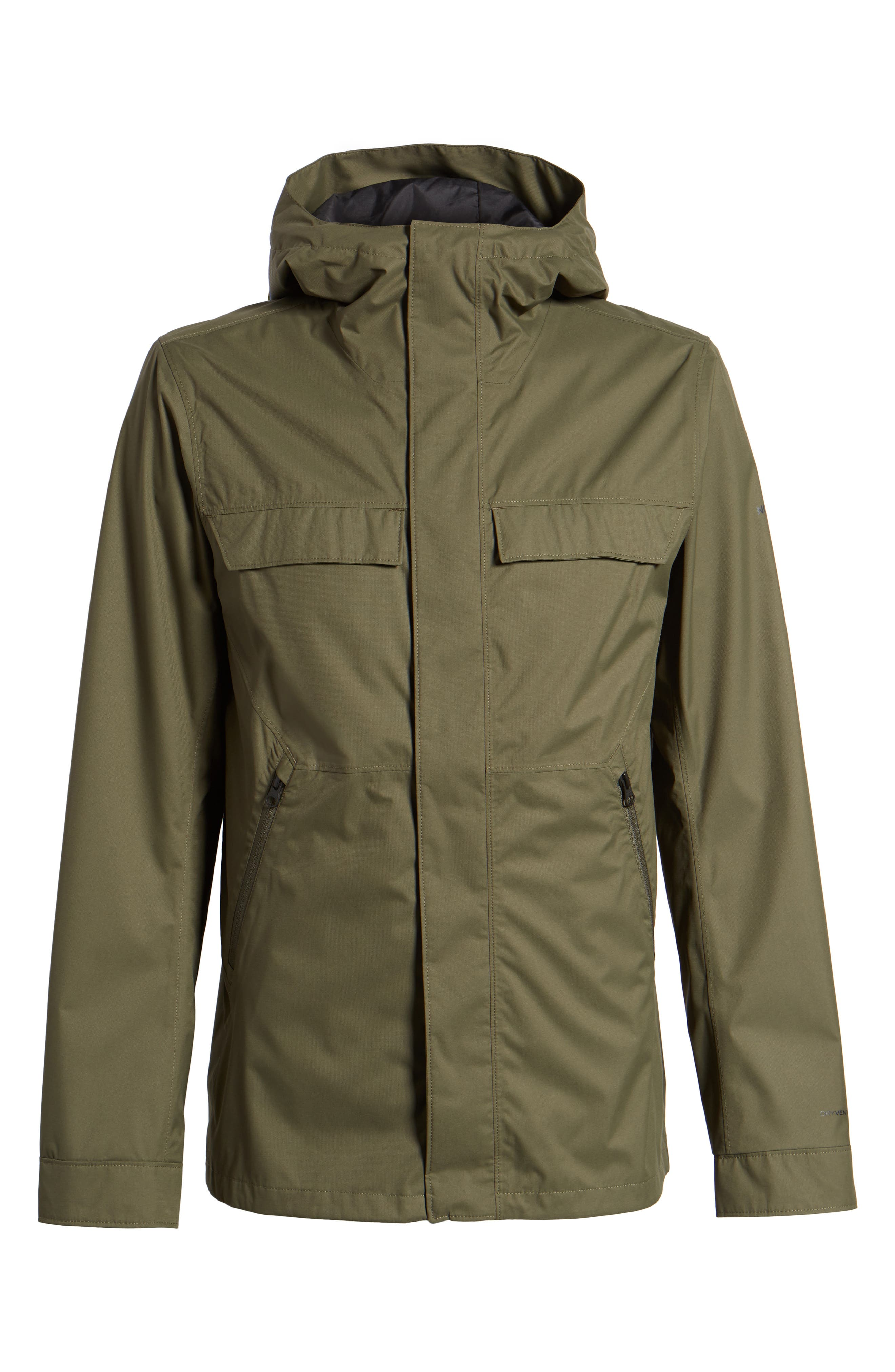 Jenison II Insulated Waterproof Jacket,                             Alternate thumbnail 6, color,                             New Taupe Green