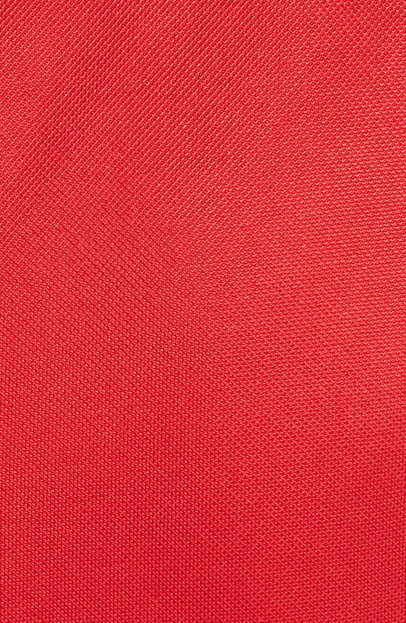 Ruched Piqué Sheath Dress,                             Alternate thumbnail 6, color,                             Red