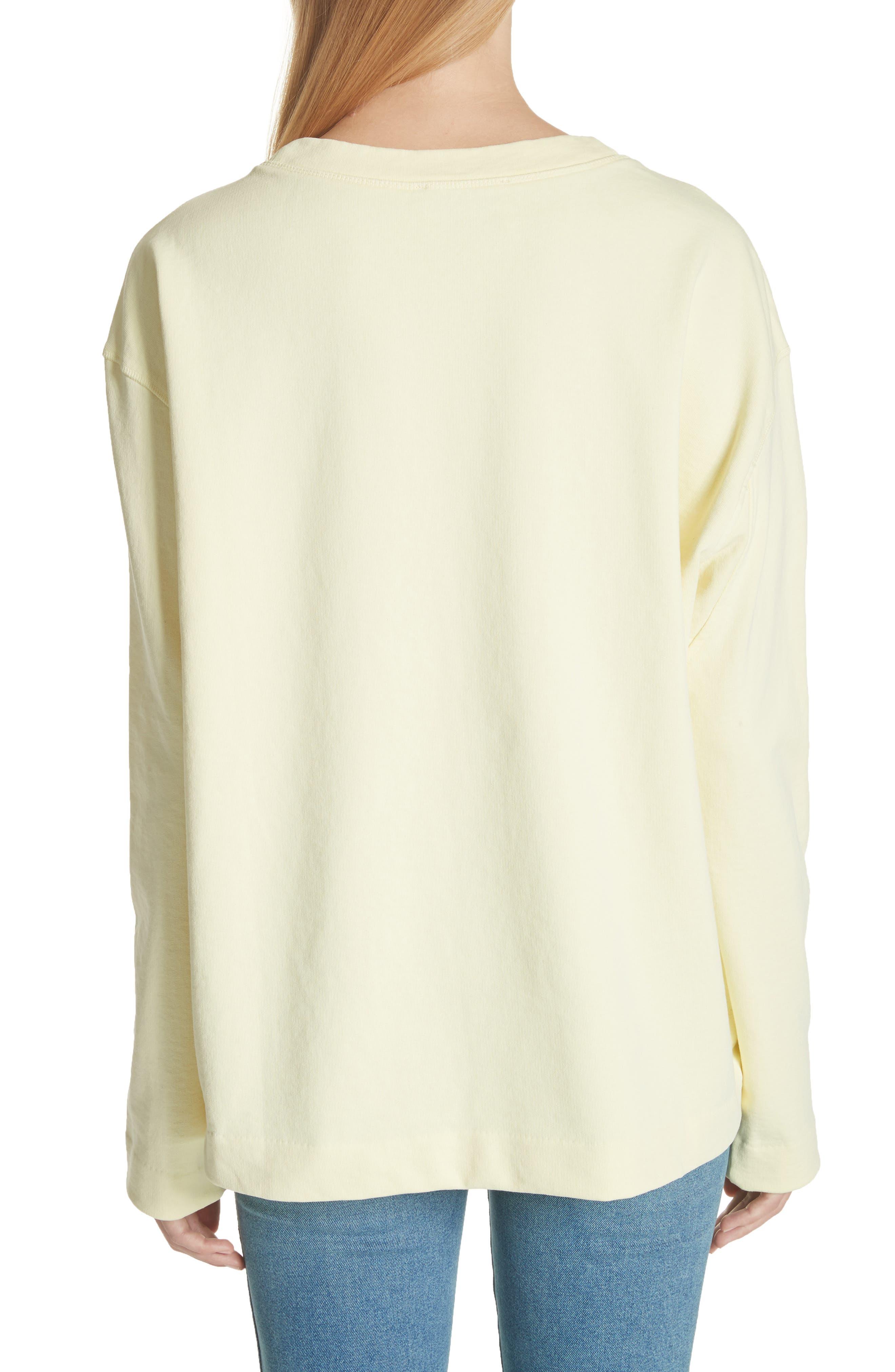 Lynn Small Logo Sweatshirt,                             Alternate thumbnail 2, color,                             Pale Yellow