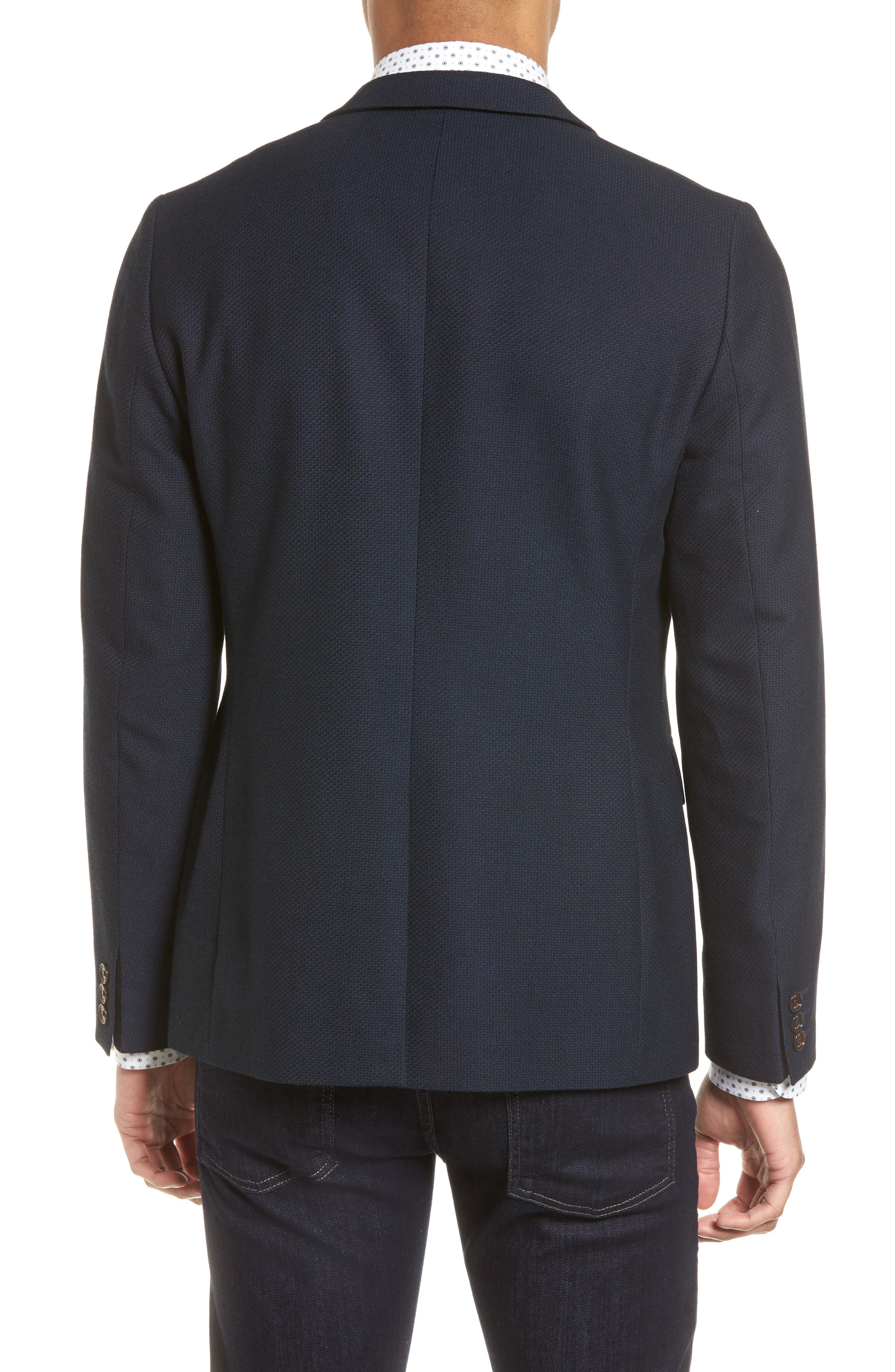 Olsson Textured Sport Coat,                             Alternate thumbnail 2, color,                             Navy