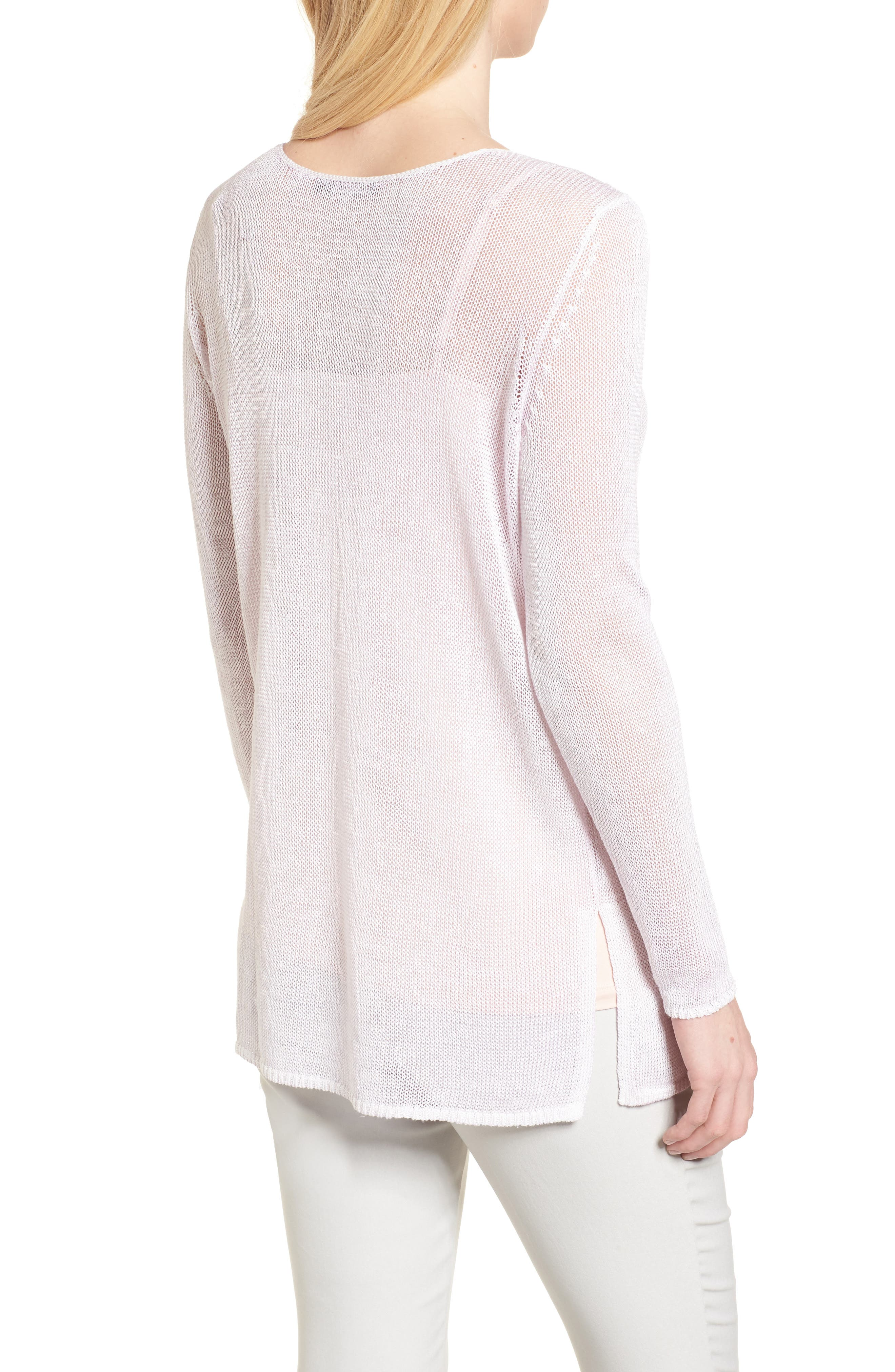 NIC + ZOE Poolside Linen Blend Sweater,                             Alternate thumbnail 2, color,                             Tea Dust