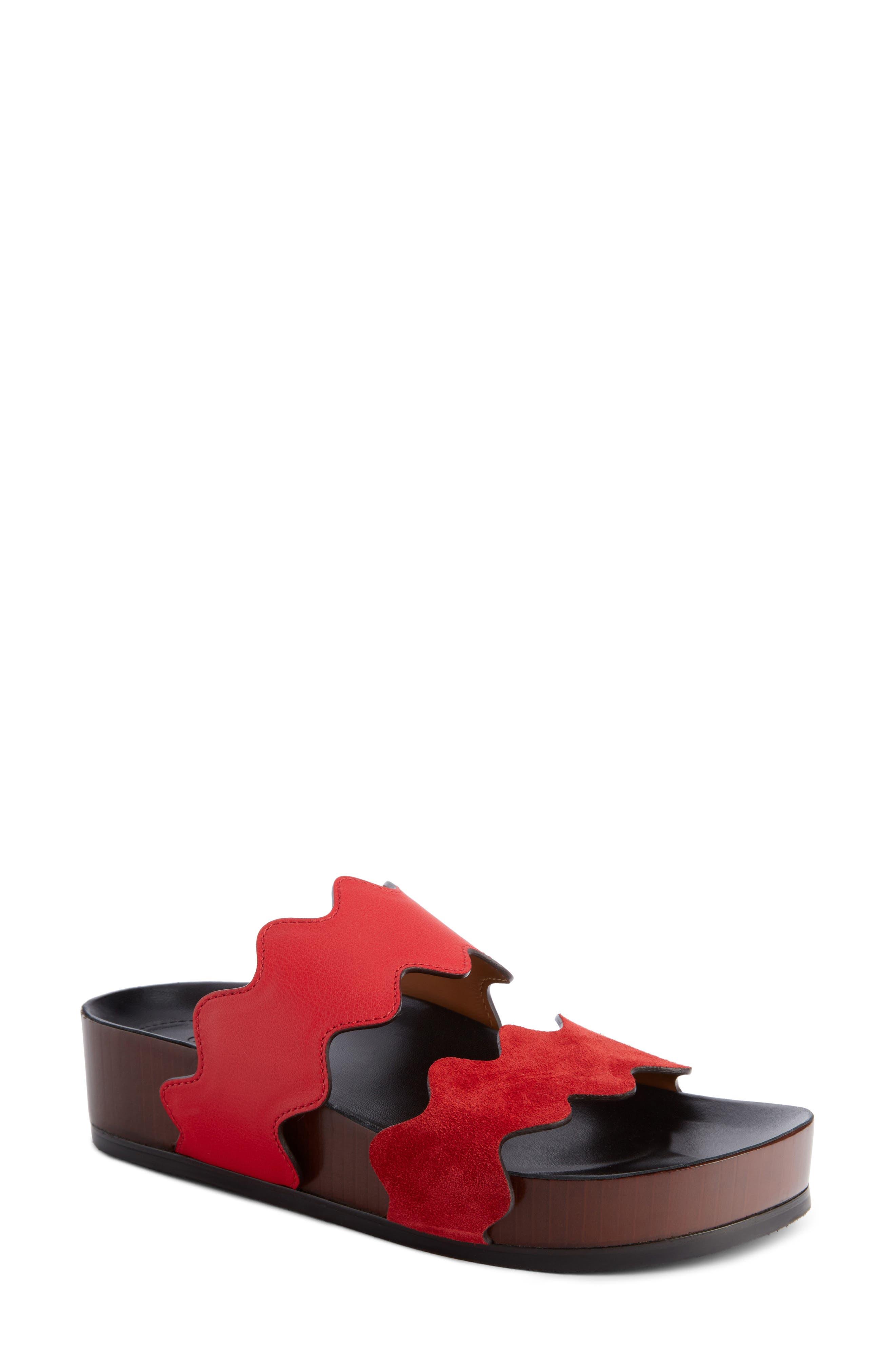 Lauren Platform Sandal,                             Main thumbnail 1, color,                             Gipsy Red