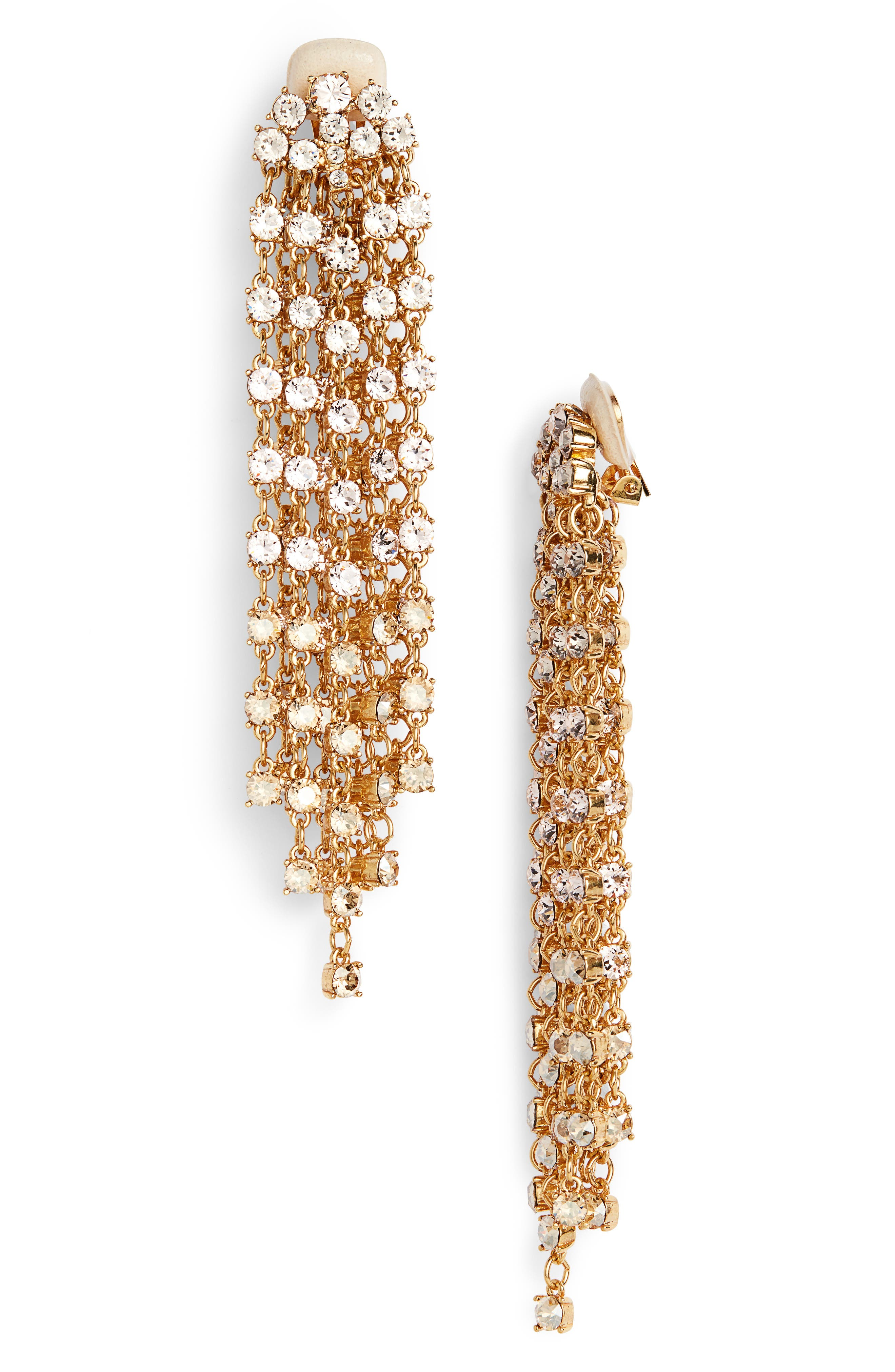 Crystal Cascade Waterfall Drop Earrings,                         Main,                         color, Cry Gold Shadow