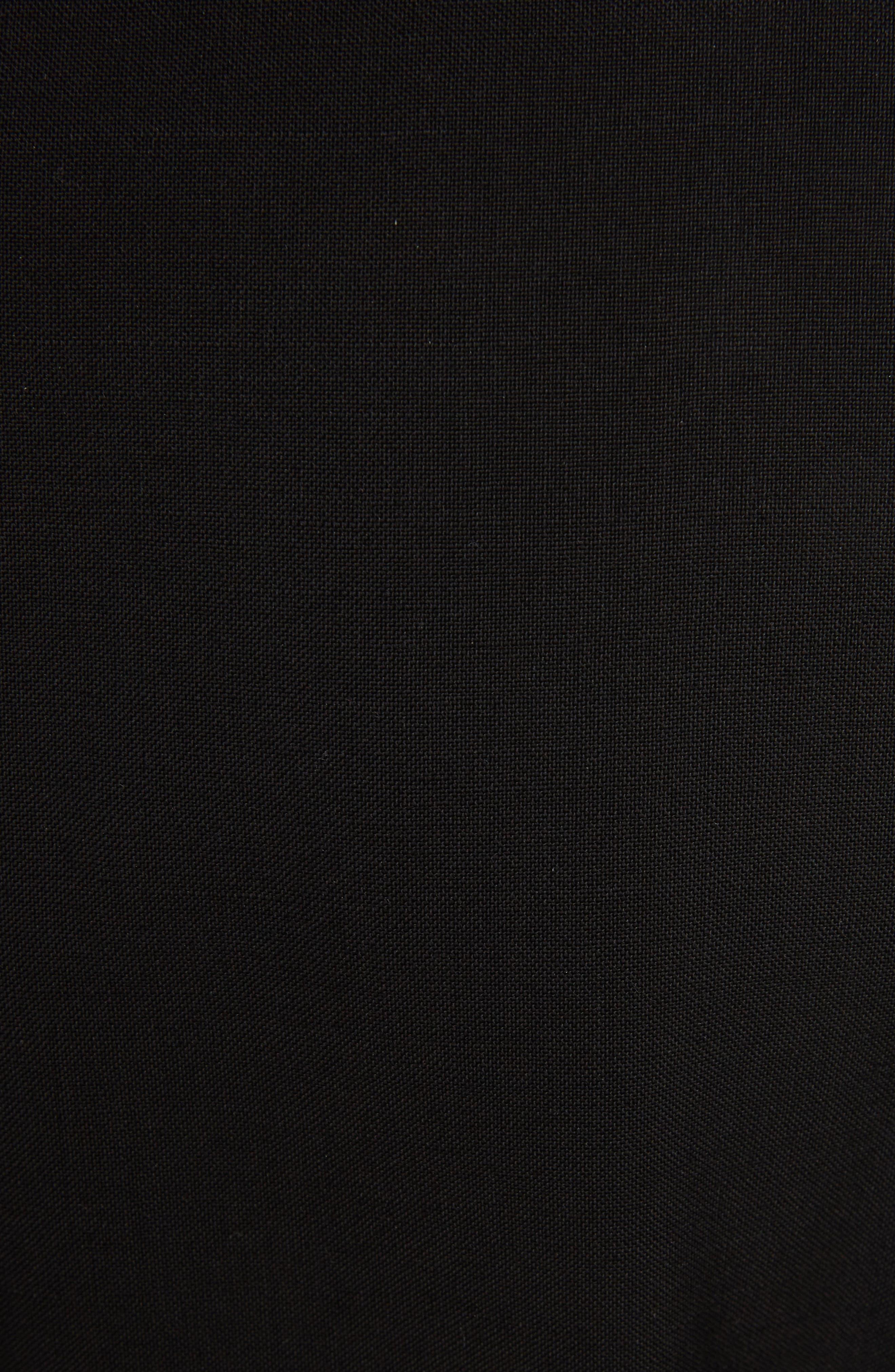 Wool & Mohair Brooch Detail Dress,                             Alternate thumbnail 5, color,                             Black