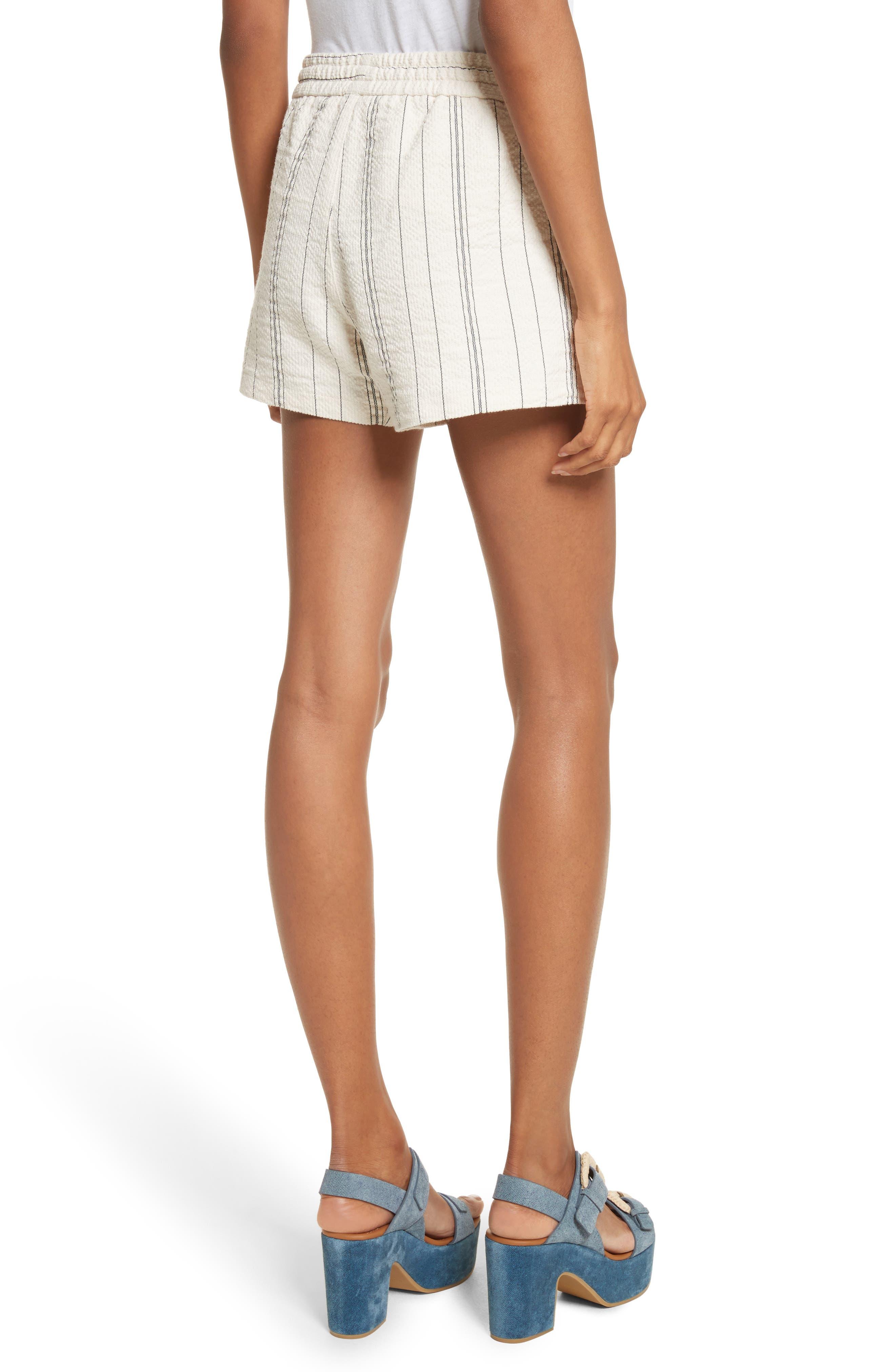 Stripe Shorts,                             Alternate thumbnail 2, color,                             White/ Black