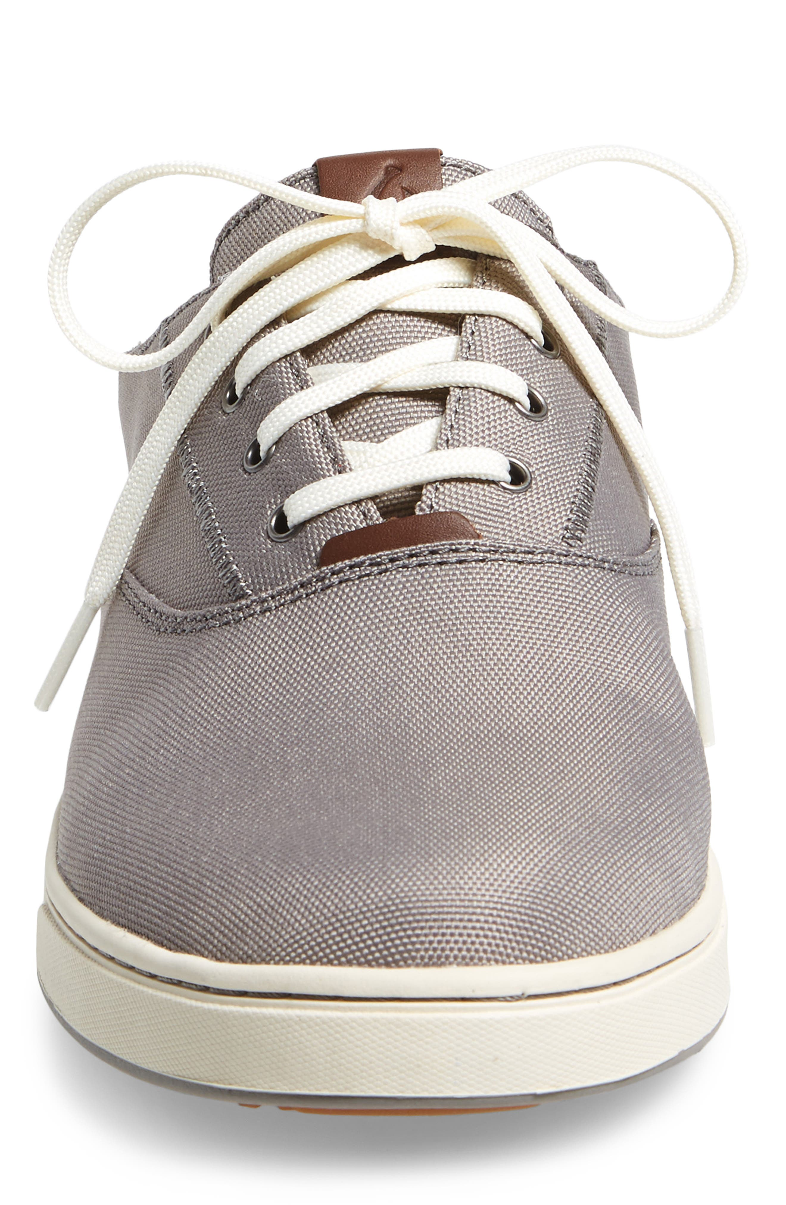 Kahu Collapsible Lace-Up Sneaker,                             Alternate thumbnail 5, color,                             Fog/ Off White