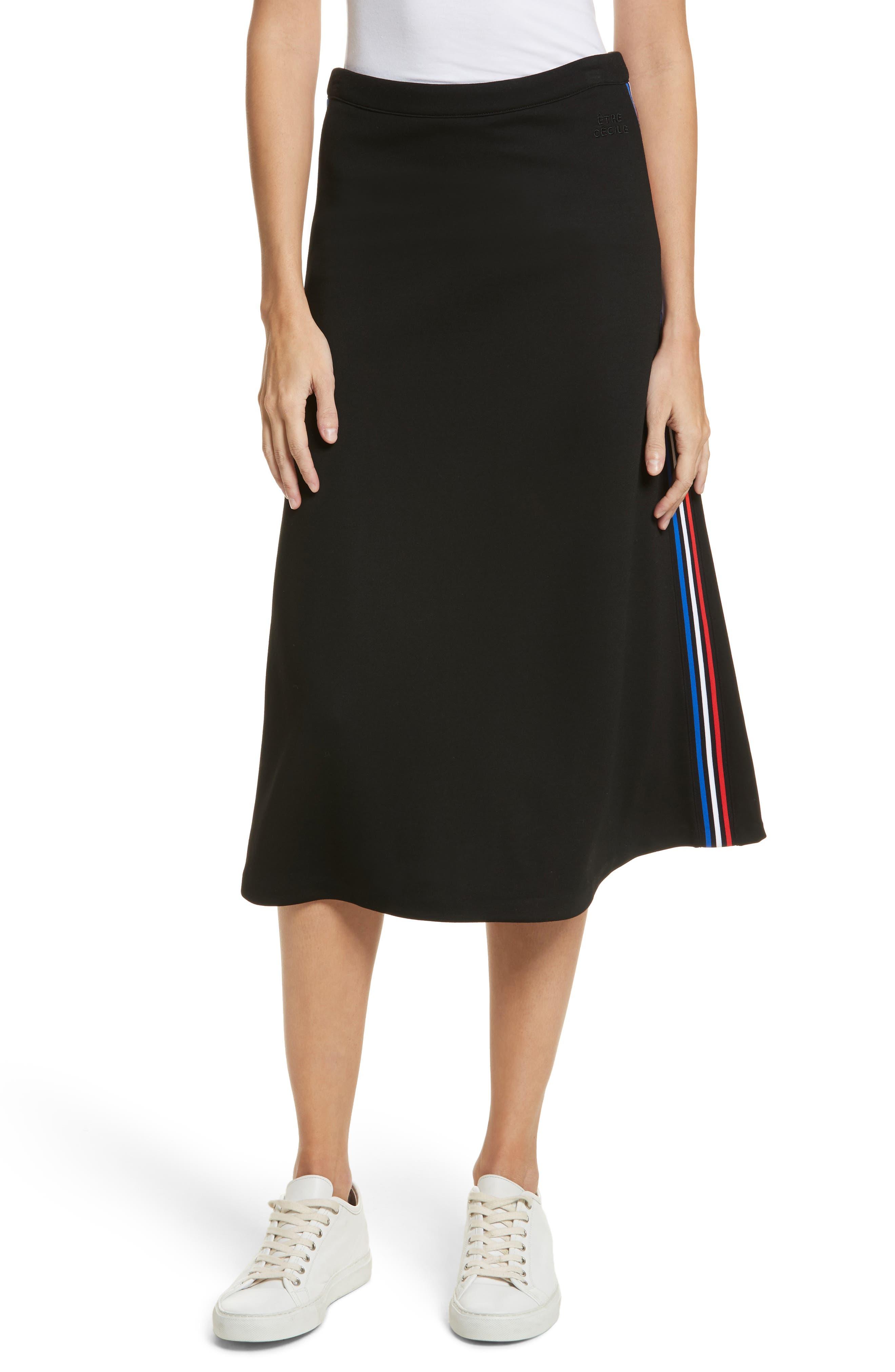 être cécile Rib A-Line Midi Skirt