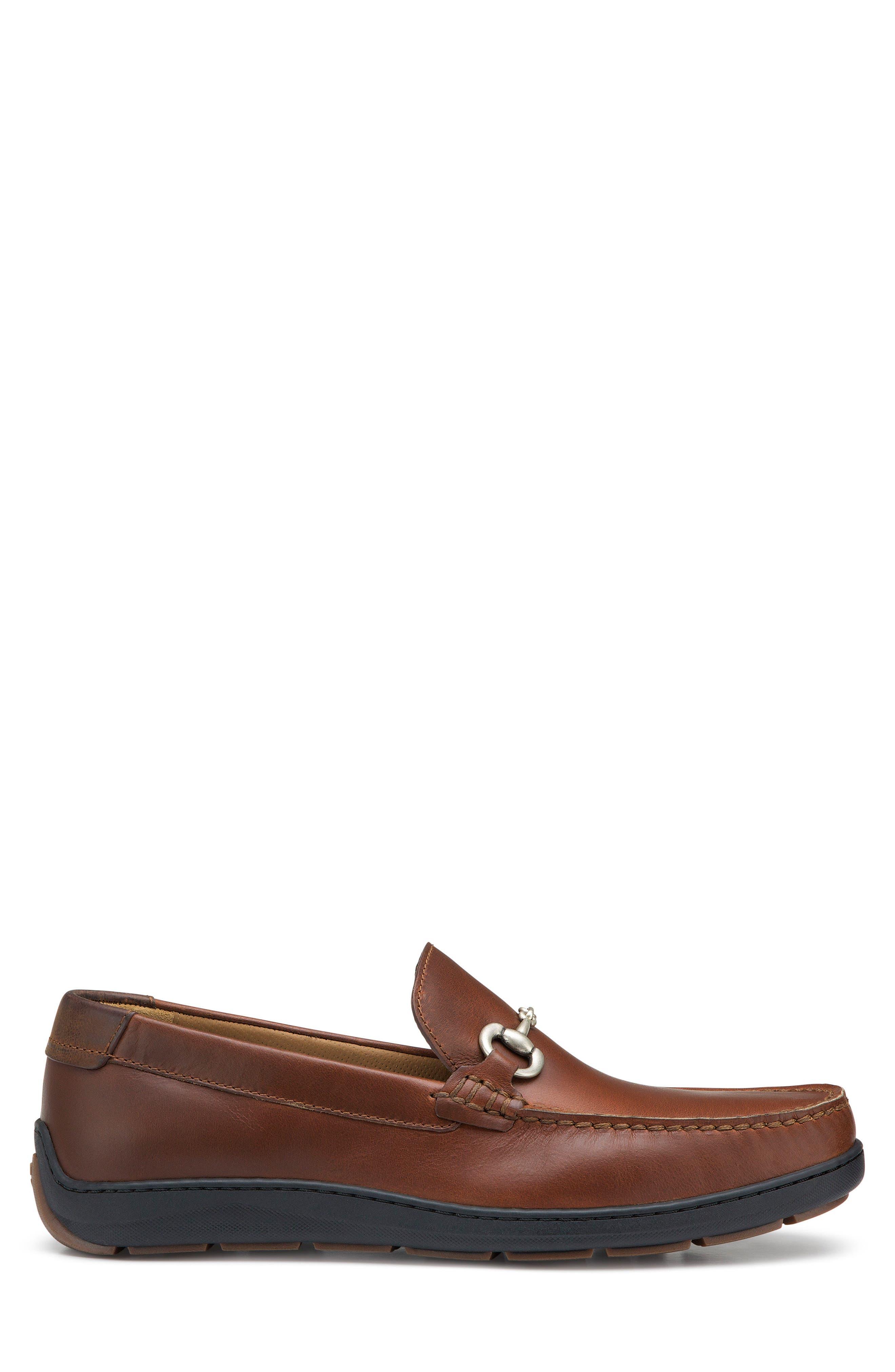 Stalworth Bit Loafer,                             Alternate thumbnail 3, color,                             Brandy Leather